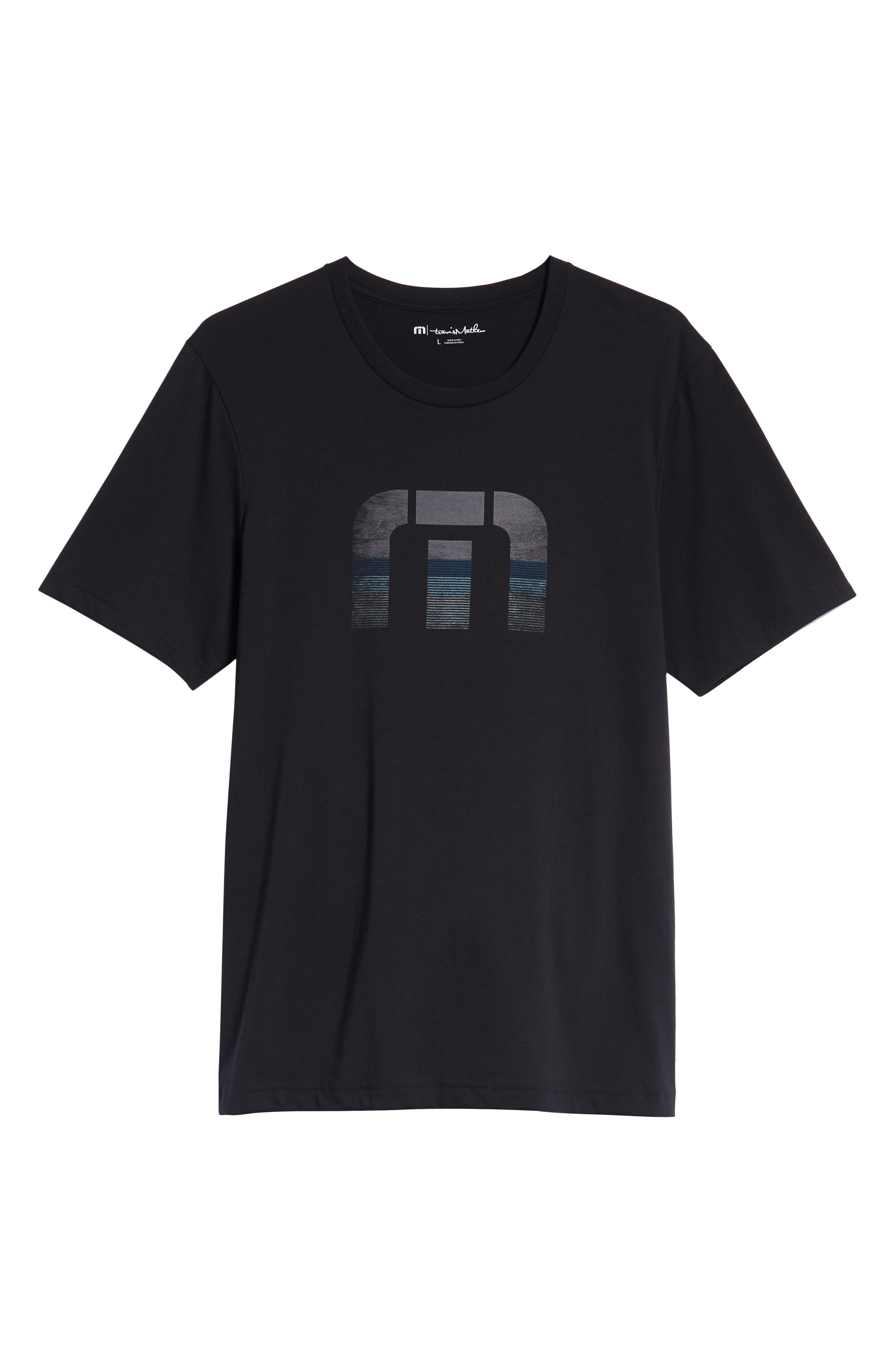 Rock City Crewneck T-Shirt,                             Alternate thumbnail 6, color,                             BLACK