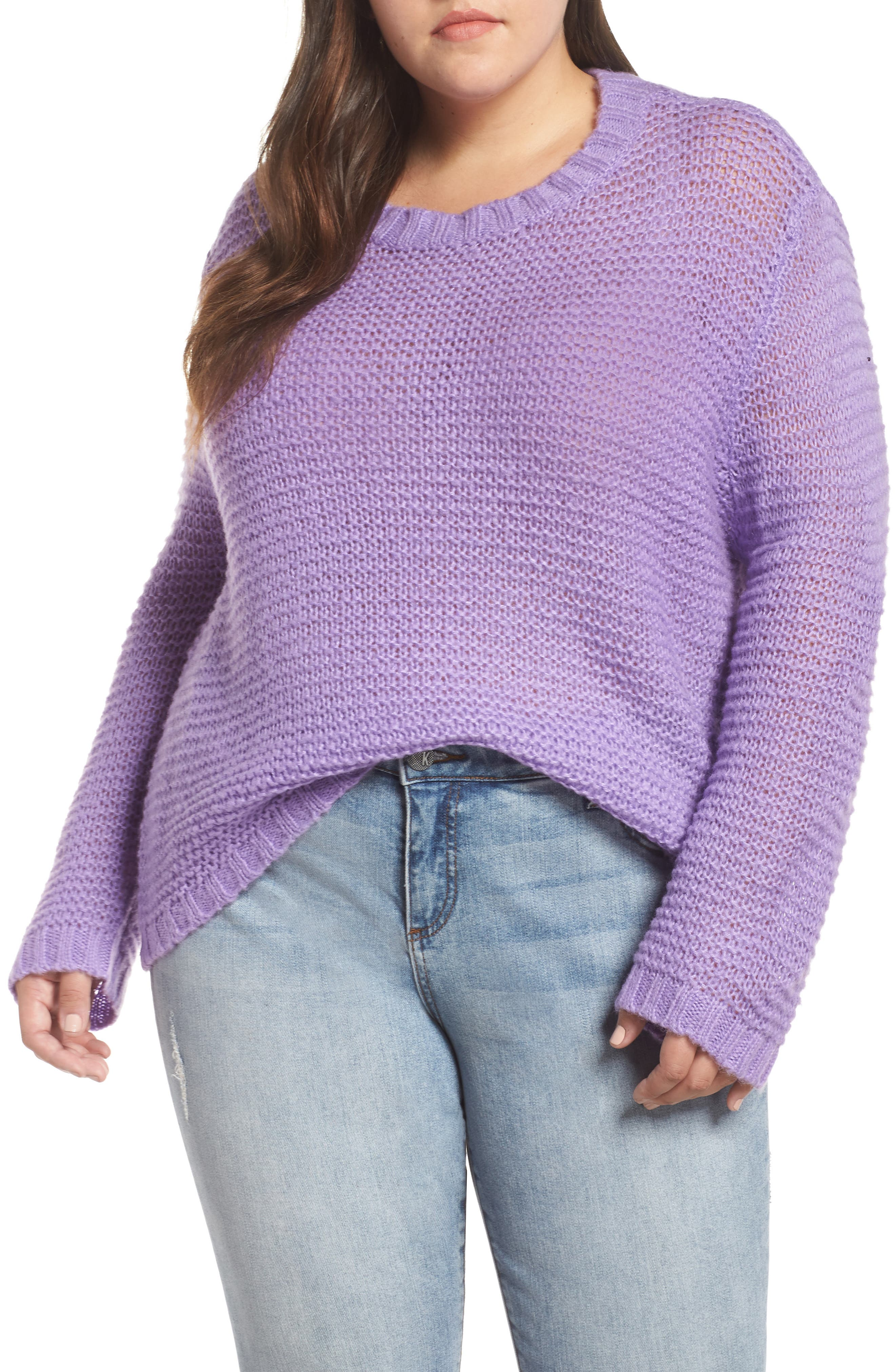 GLAMOROUS Drop Shoulder Sweater in Lilac
