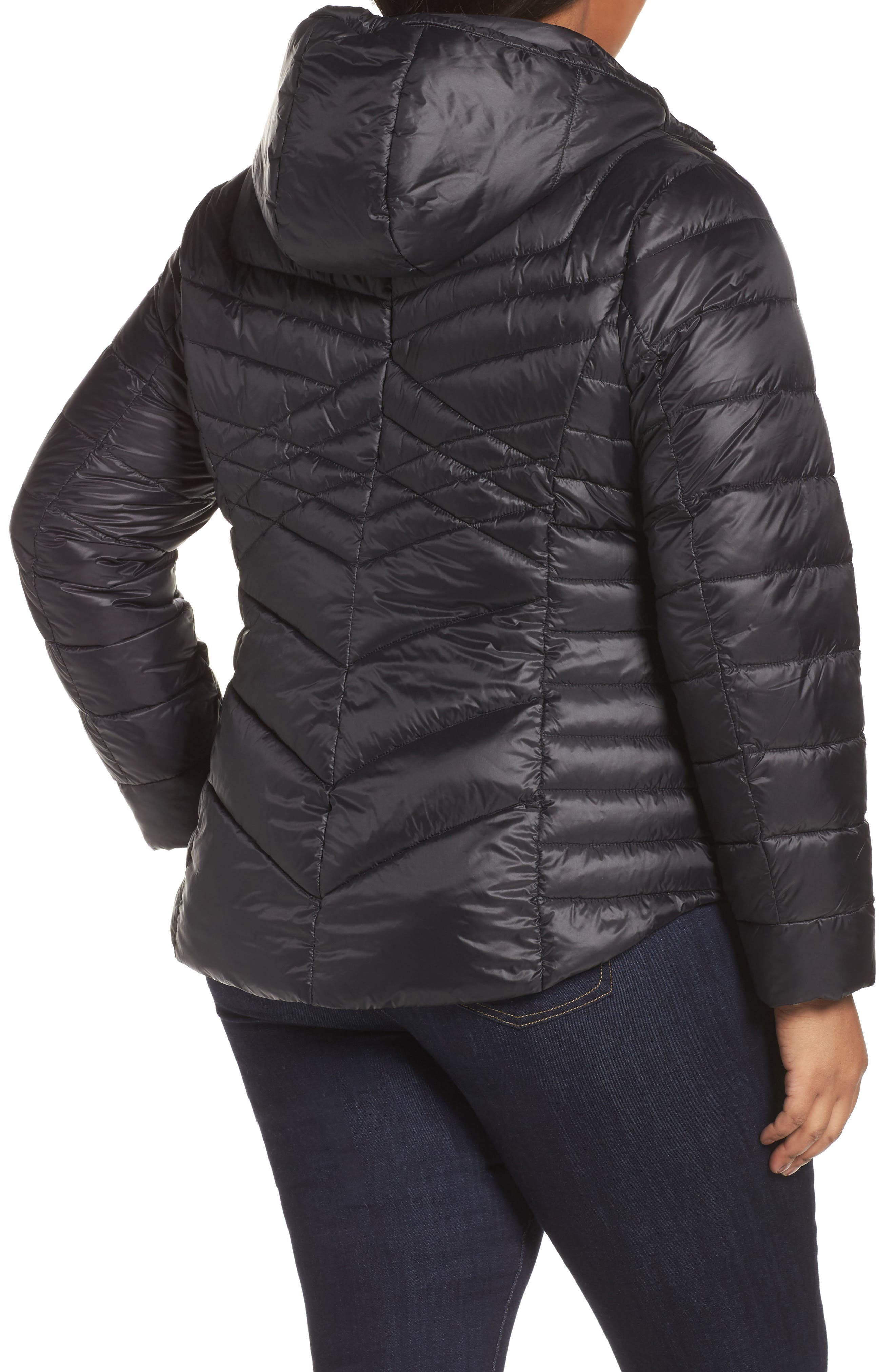 Hooded Down Blend Puffer Jacket,                             Alternate thumbnail 2, color,                             001