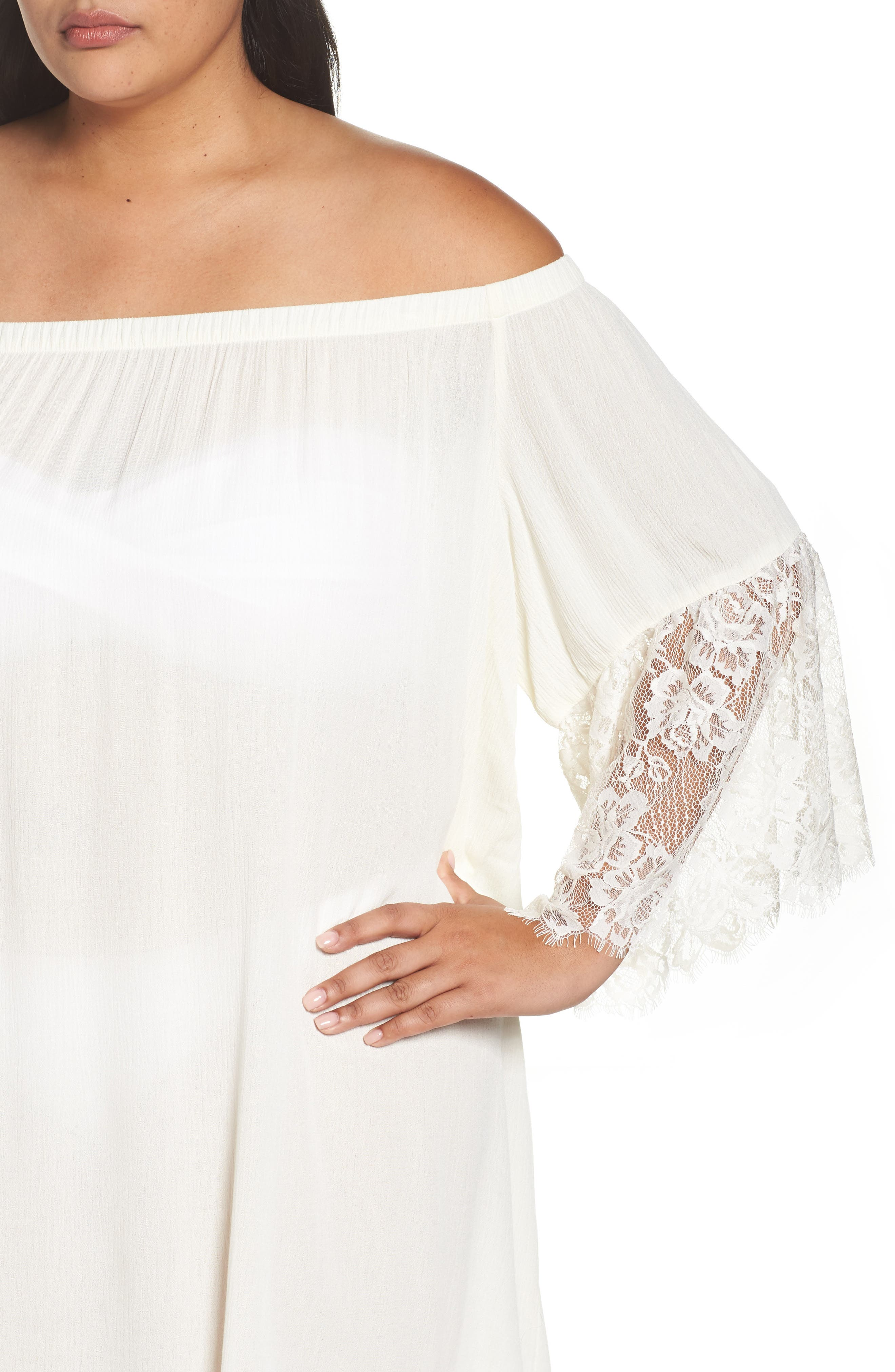 Off the Shoulder Cover-Up,                             Alternate thumbnail 8, color,