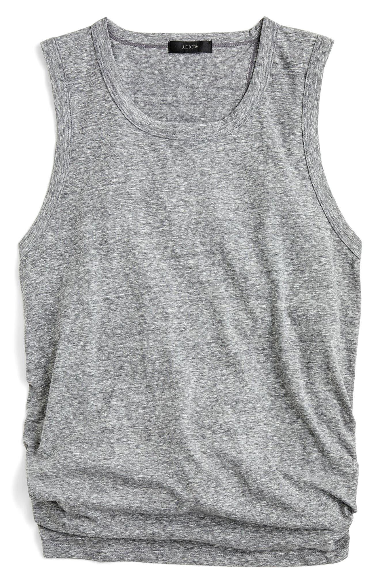 J.CREW Tie-Back Tank Top, Main, color, 021