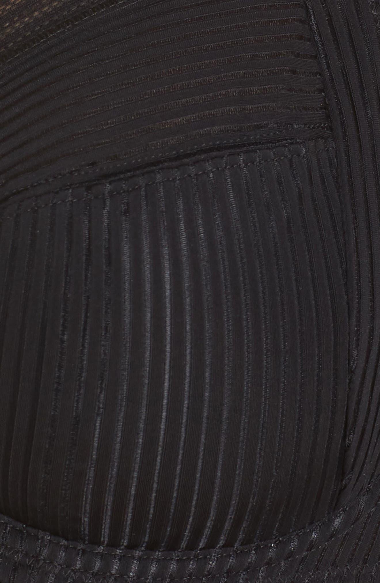 Fusion Full Figure Underwire Side Support Bra,                             Alternate thumbnail 6, color,                             BLACK