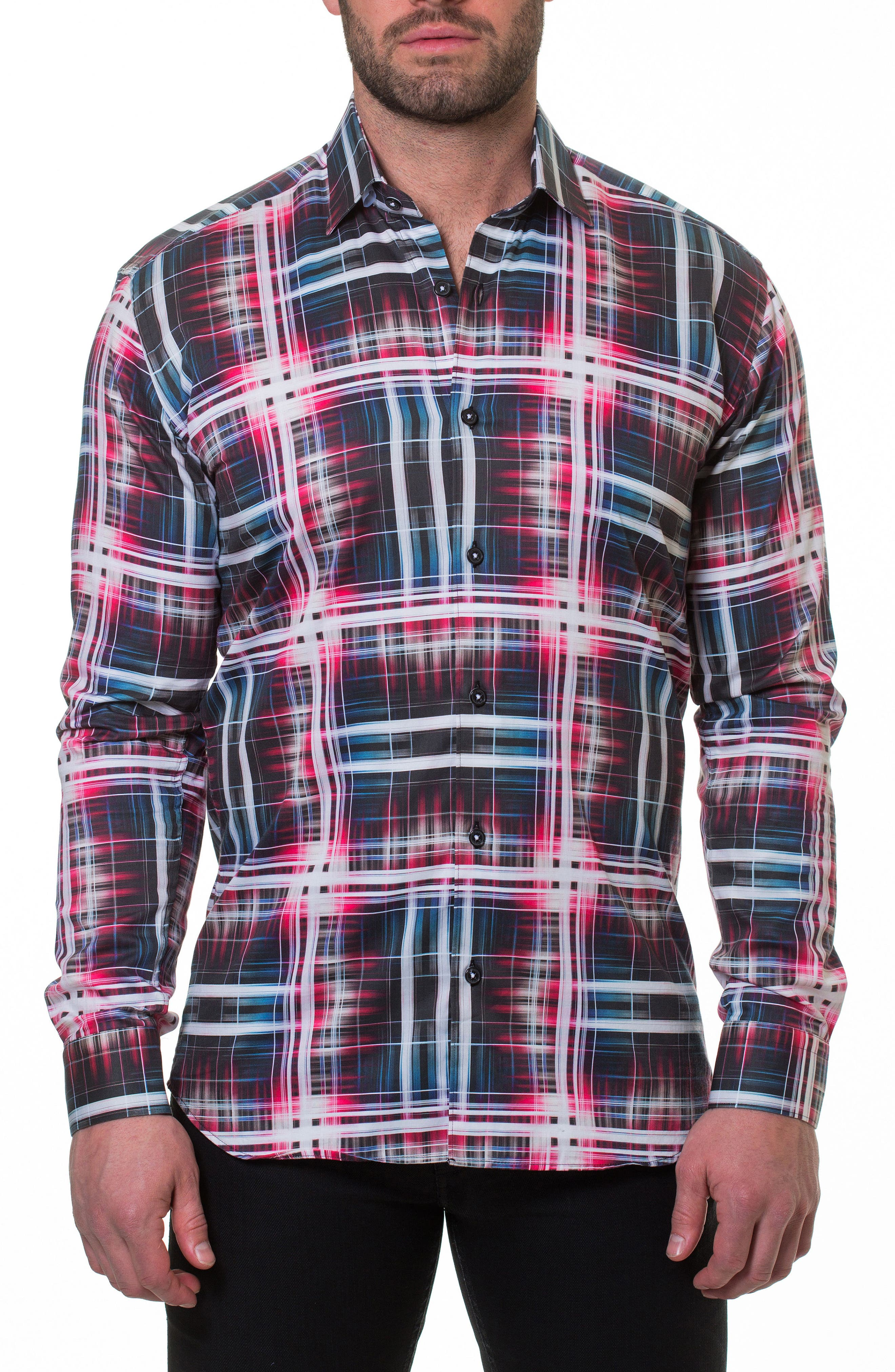Luxor Fiber Slim Fit Sport Shirt,                             Alternate thumbnail 4, color,                             RED