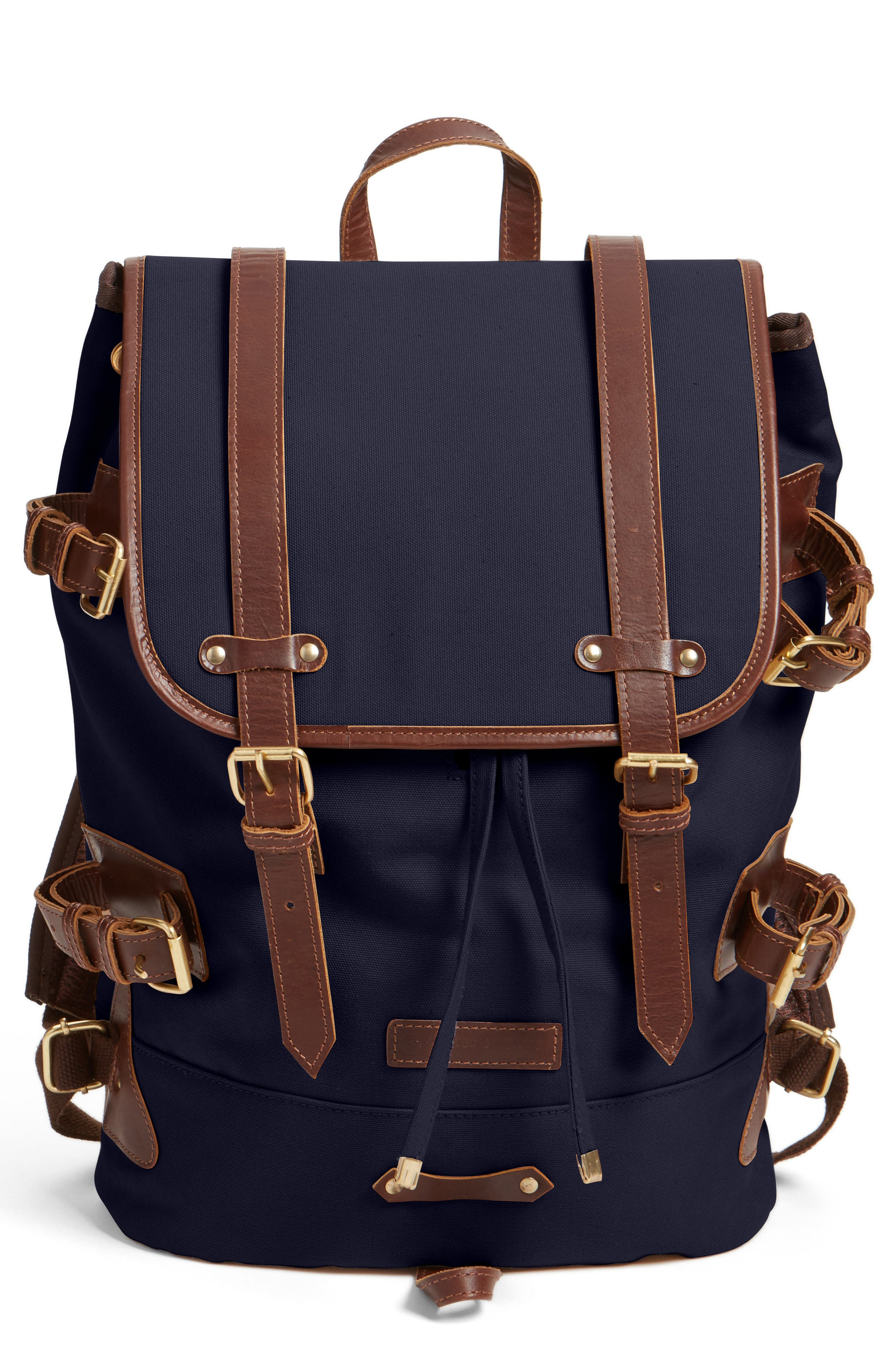 'Derby Tier' Backpack,                             Alternate thumbnail 4, color,                             NAVY