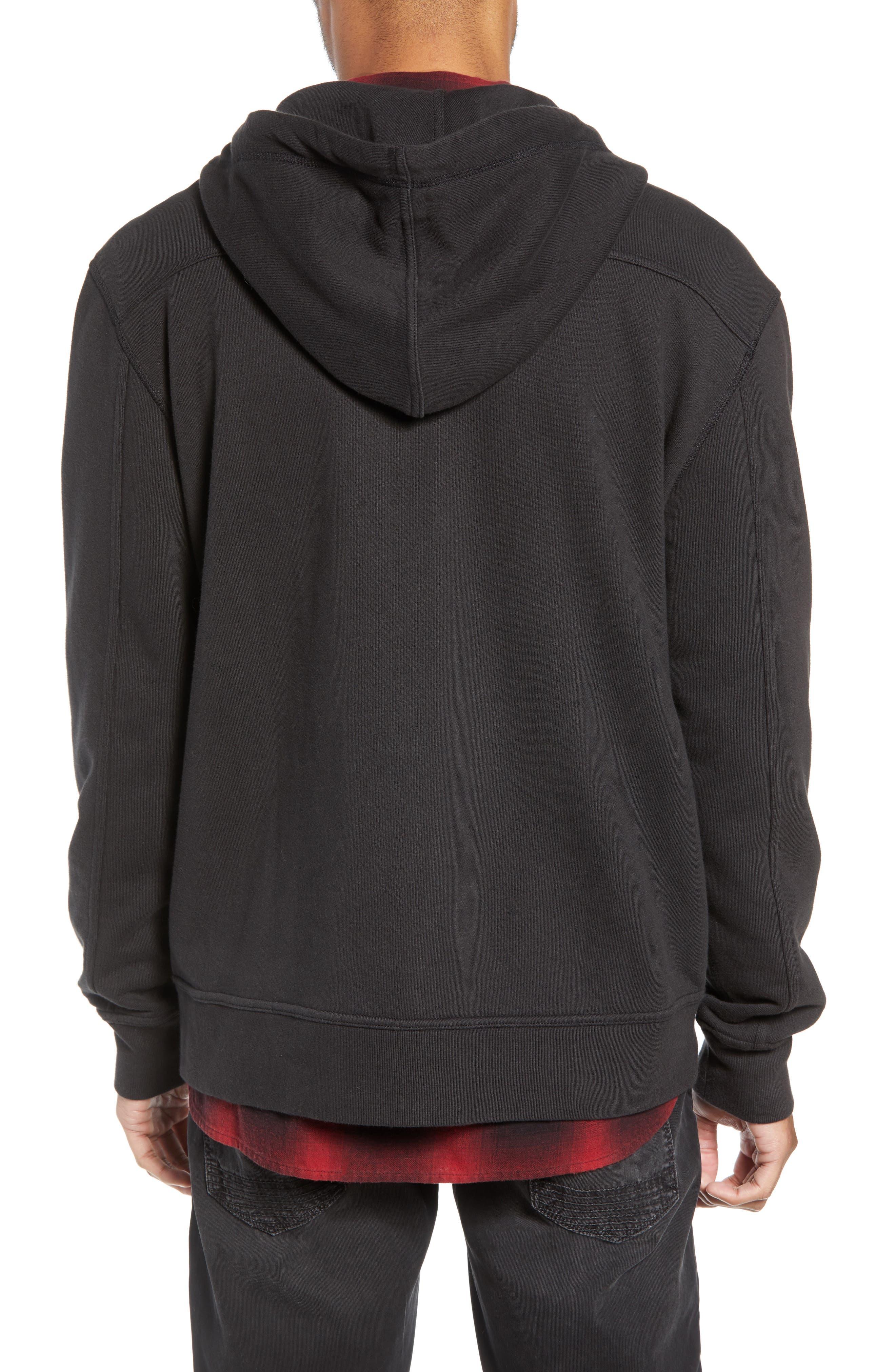 Regular Fit Hooded Zip Sweatshirt,                             Alternate thumbnail 2, color,                             001
