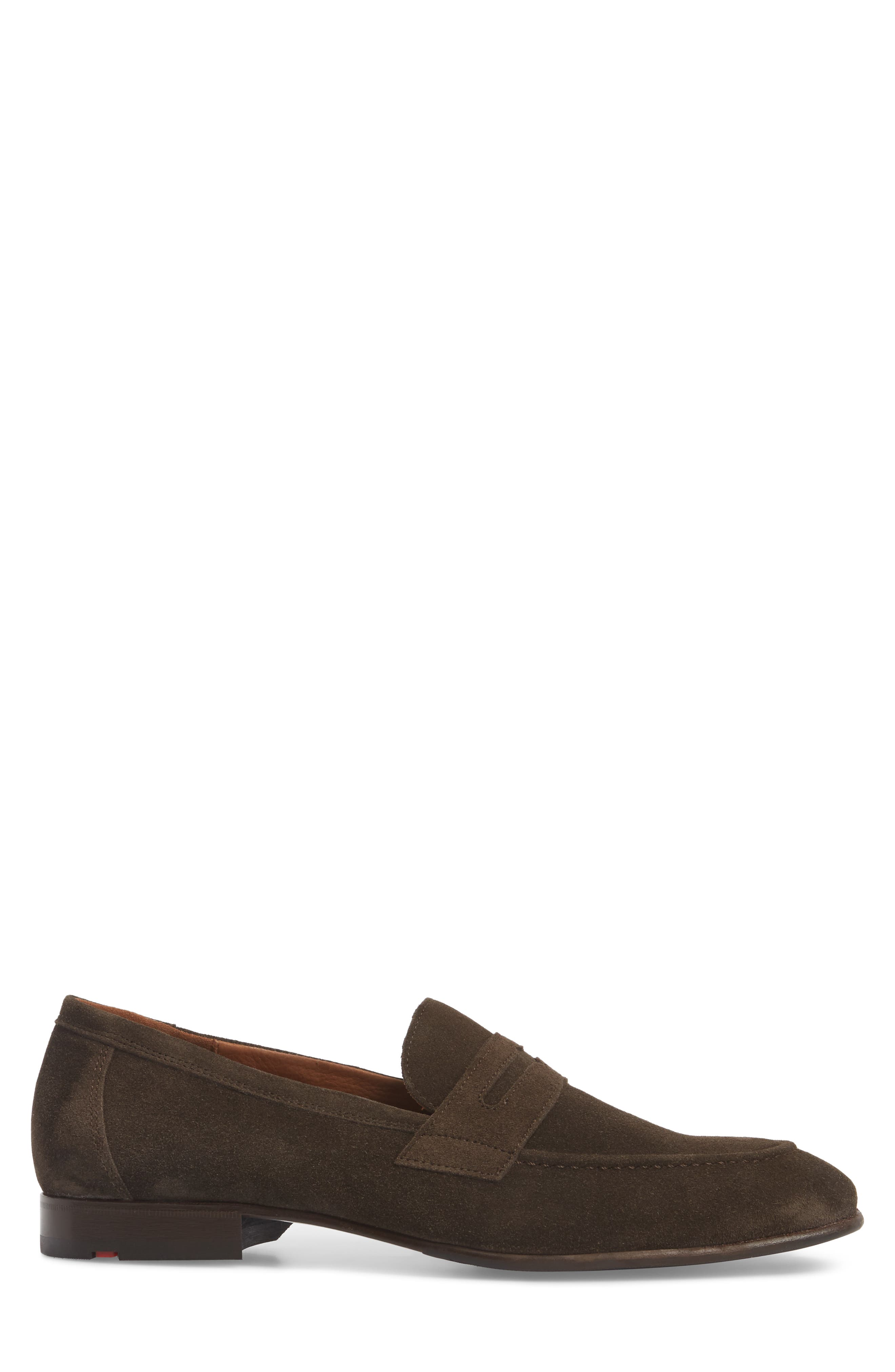 Paxton Penny Loafer,                             Alternate thumbnail 3, color,                             BROWN SUEDE