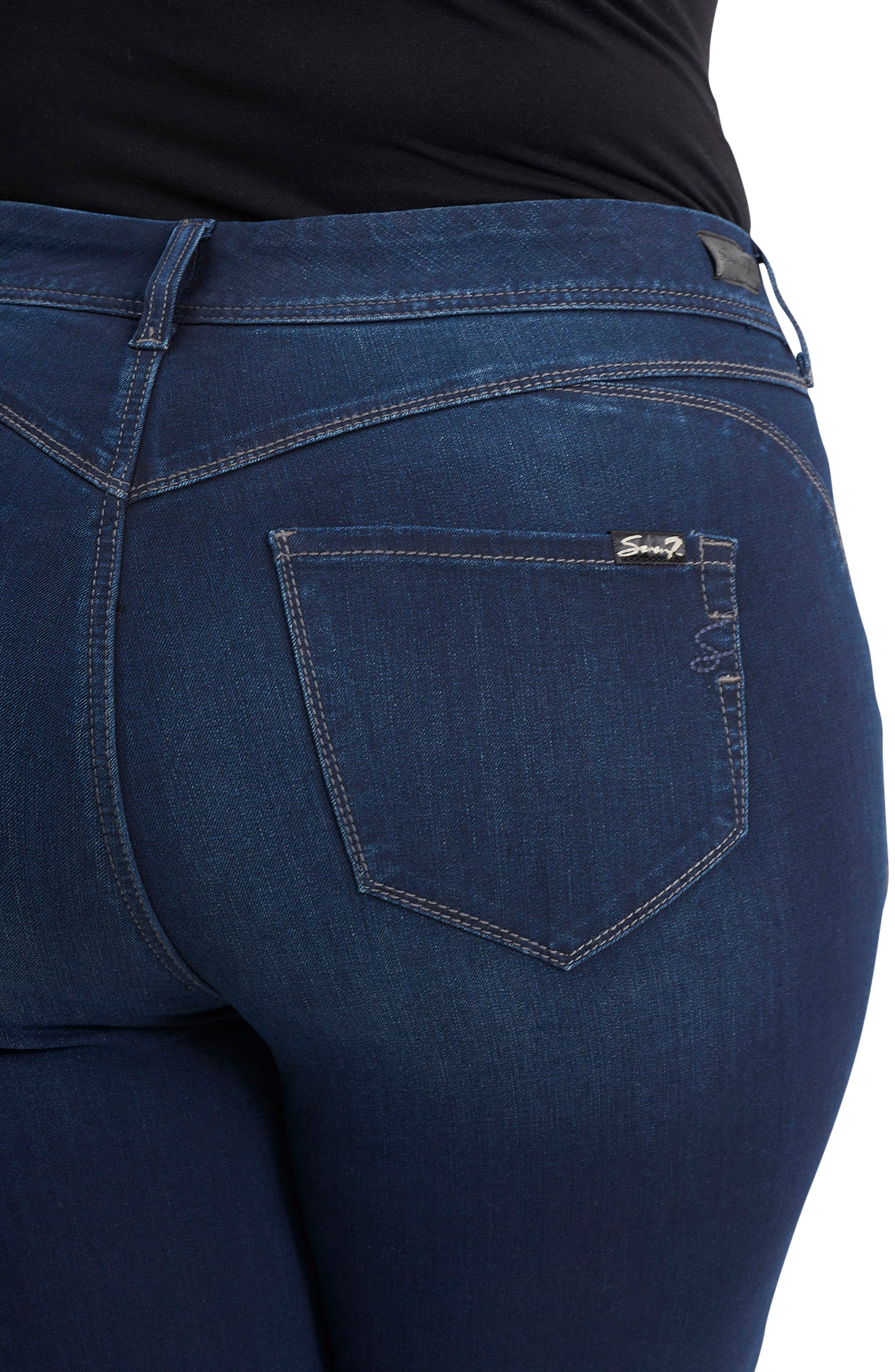Bootyshaper Skinny Jeans,                             Alternate thumbnail 4, color,                             BLUE