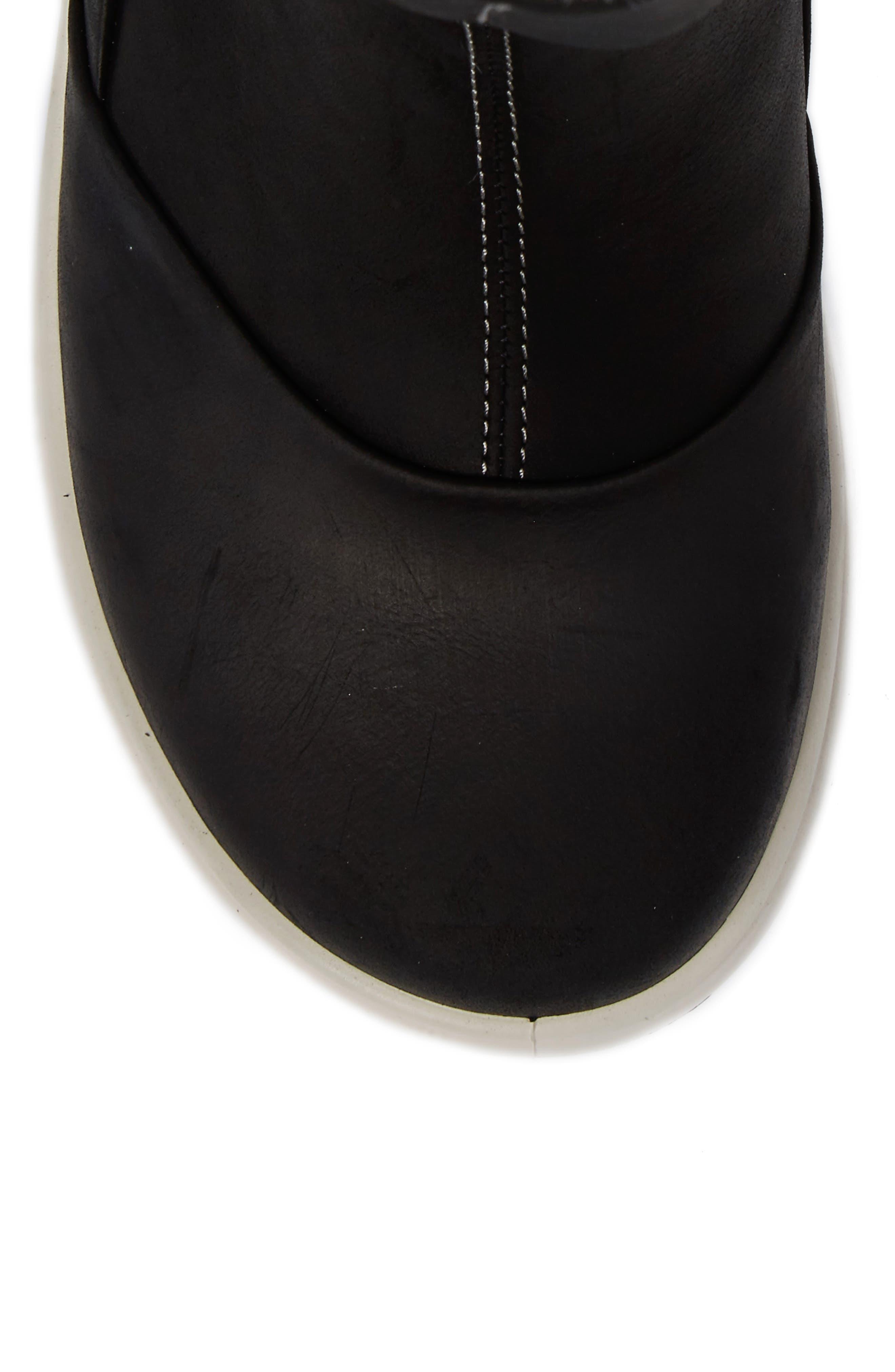 Noyce Water-Resistant Fleece Boot,                             Alternate thumbnail 5, color,                             001