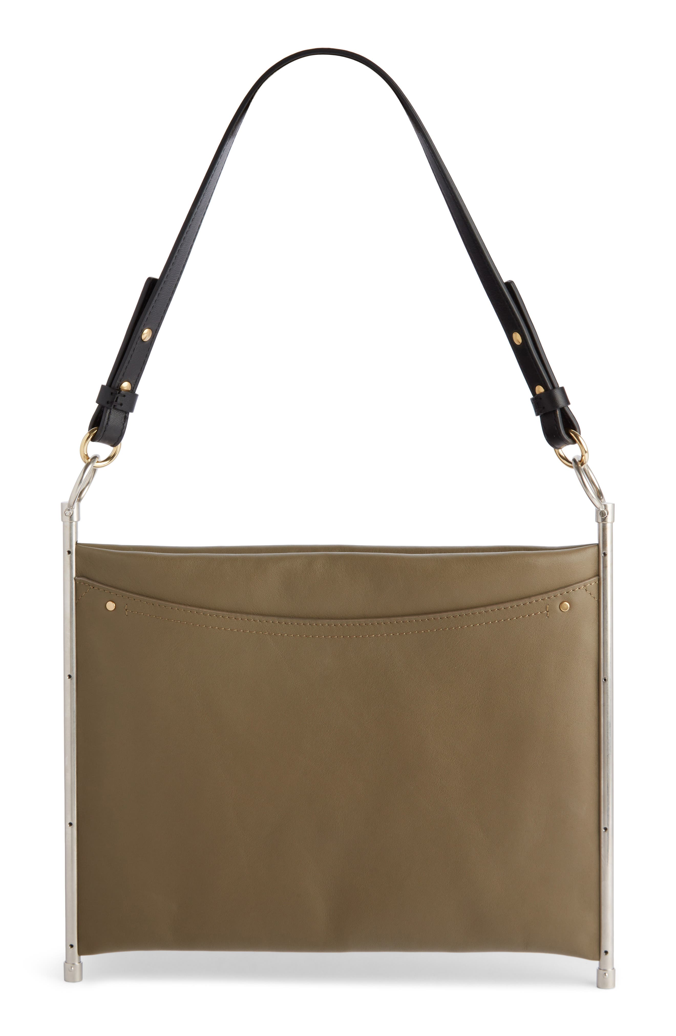 Roy Single Leather Clutch,                             Alternate thumbnail 3, color,                             020
