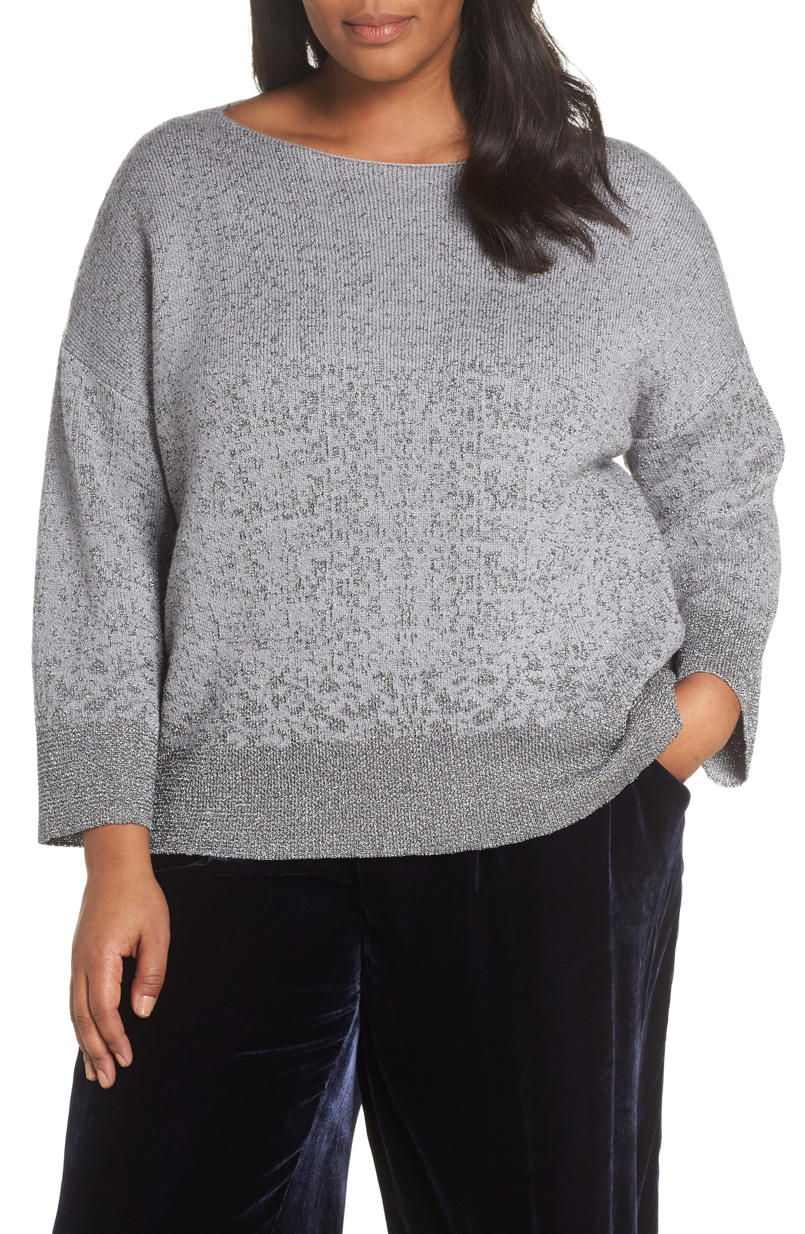 Sparkle Sweater, Main, color, MOON