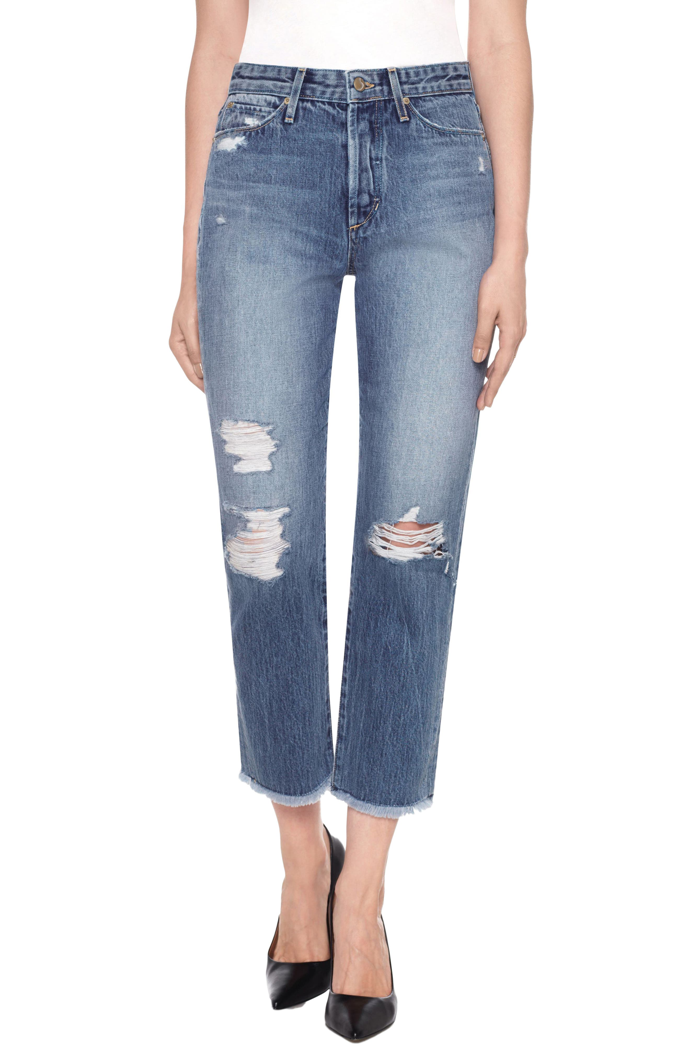 Smith High Waist Crop Boyfriend Jeans,                         Main,                         color, 450