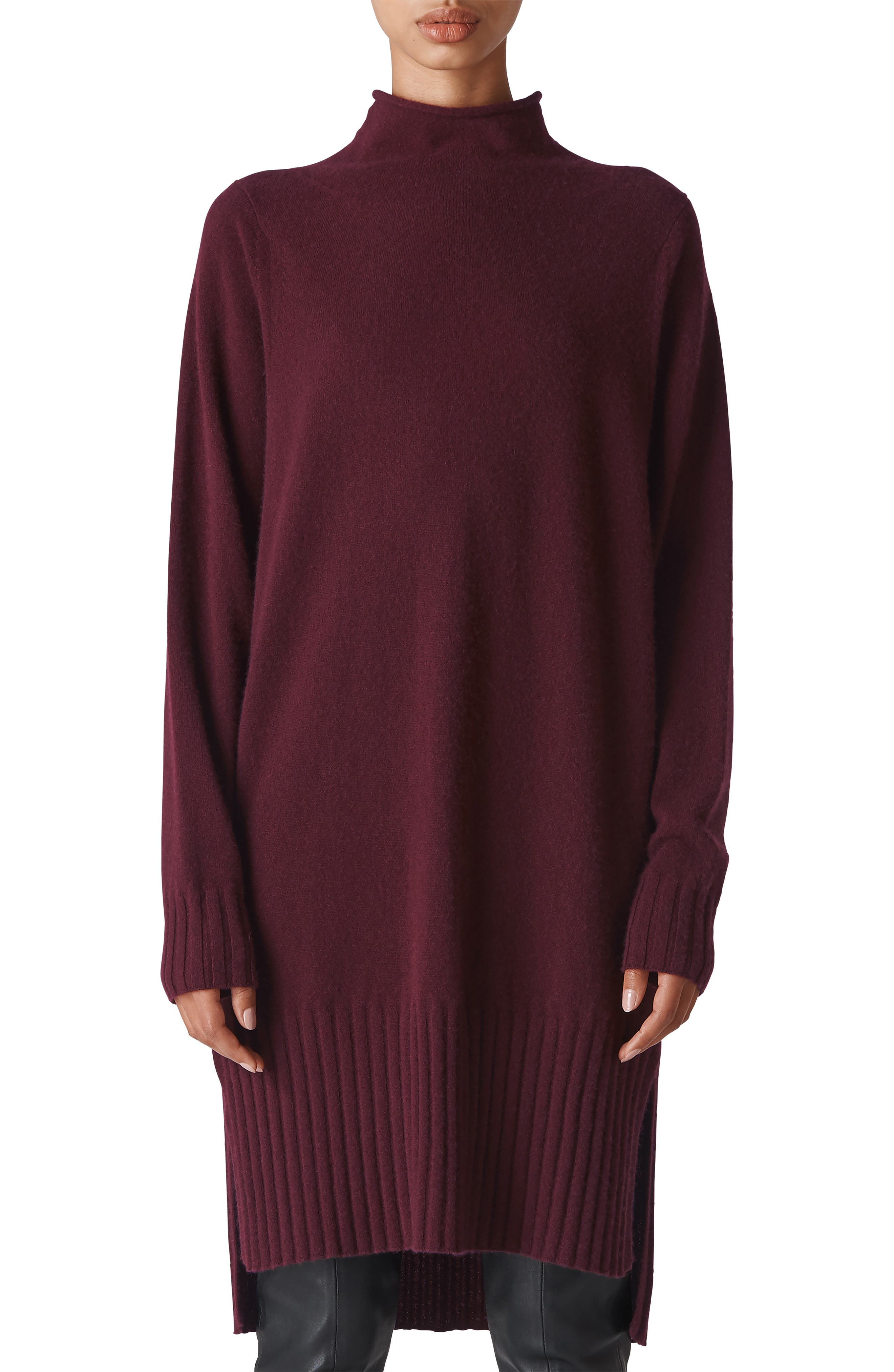 WHISTLES,                             Dolman Cashmere Sweater Dress,                             Main thumbnail 1, color,                             930