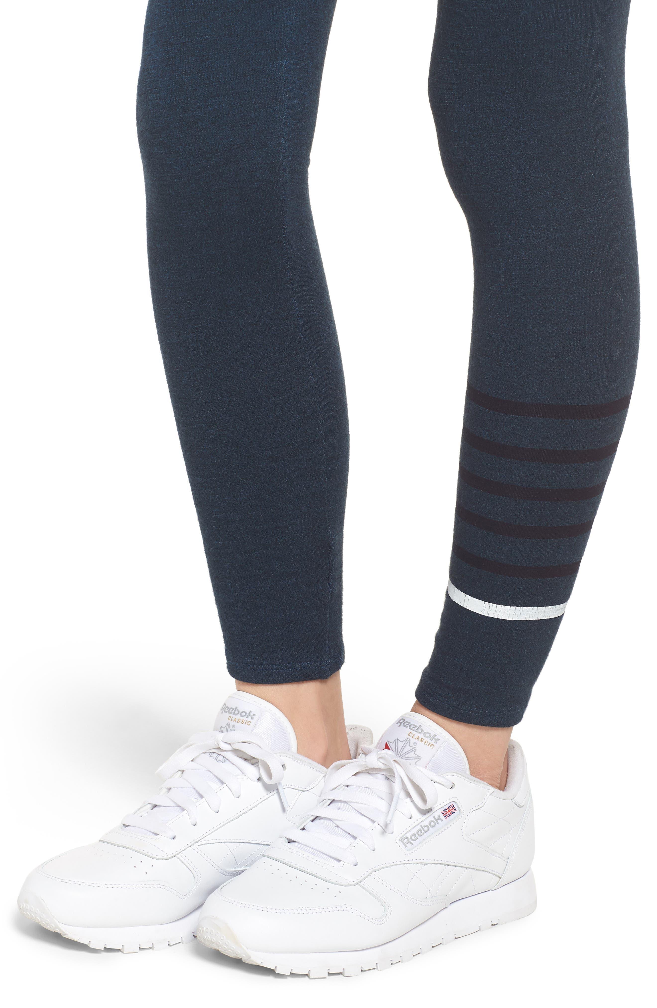 Stripe Yoga Pants,                             Alternate thumbnail 4, color,                             STORM