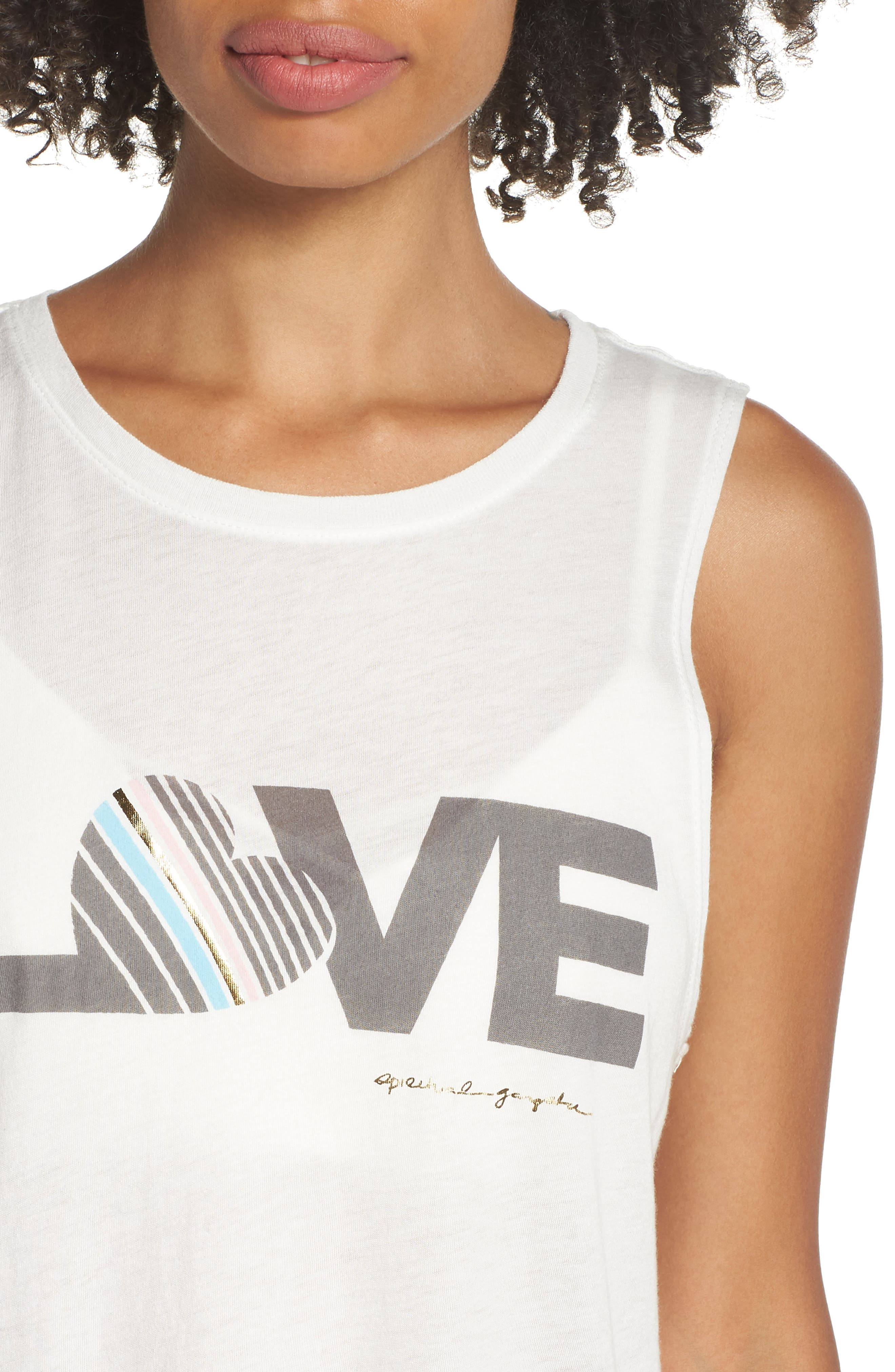 Love Muscle Tee,                             Alternate thumbnail 4, color,                             100