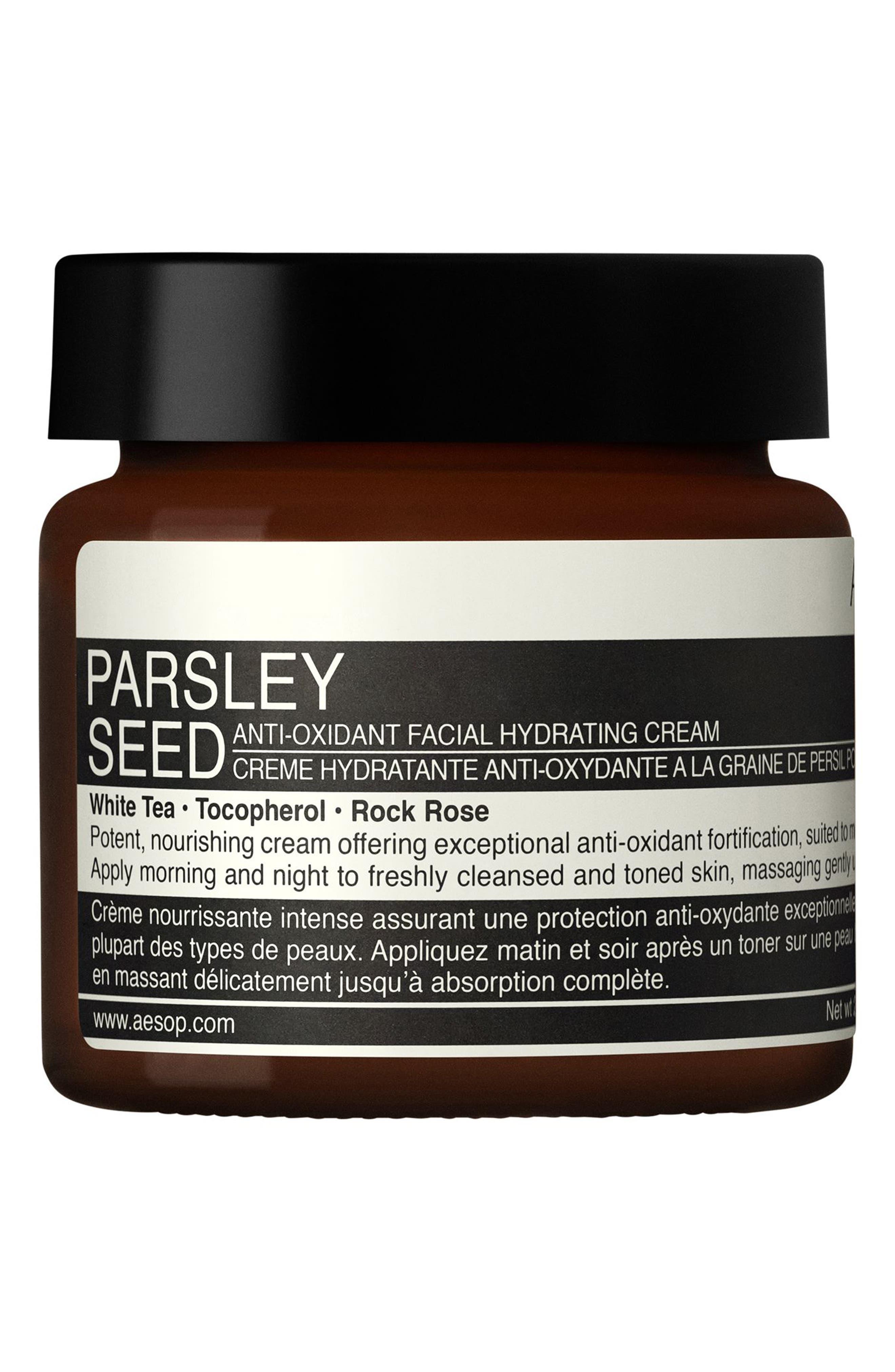 Parsley Seed Anti-Oxidant Facial Hydrating Cream,                         Main,                         color, NO COLOR