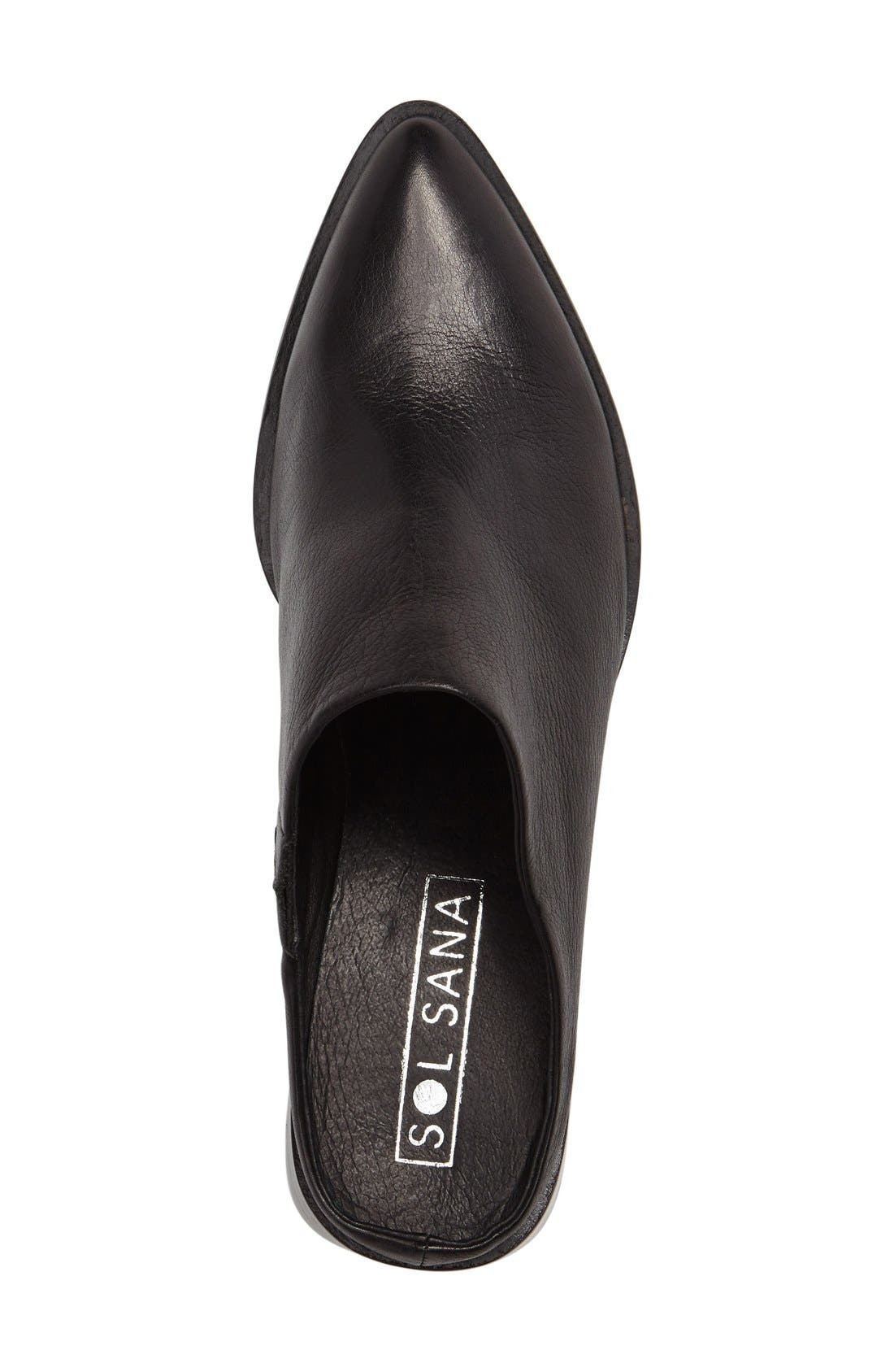 Camille Pointy Toe Mule,                             Alternate thumbnail 3, color,                             001