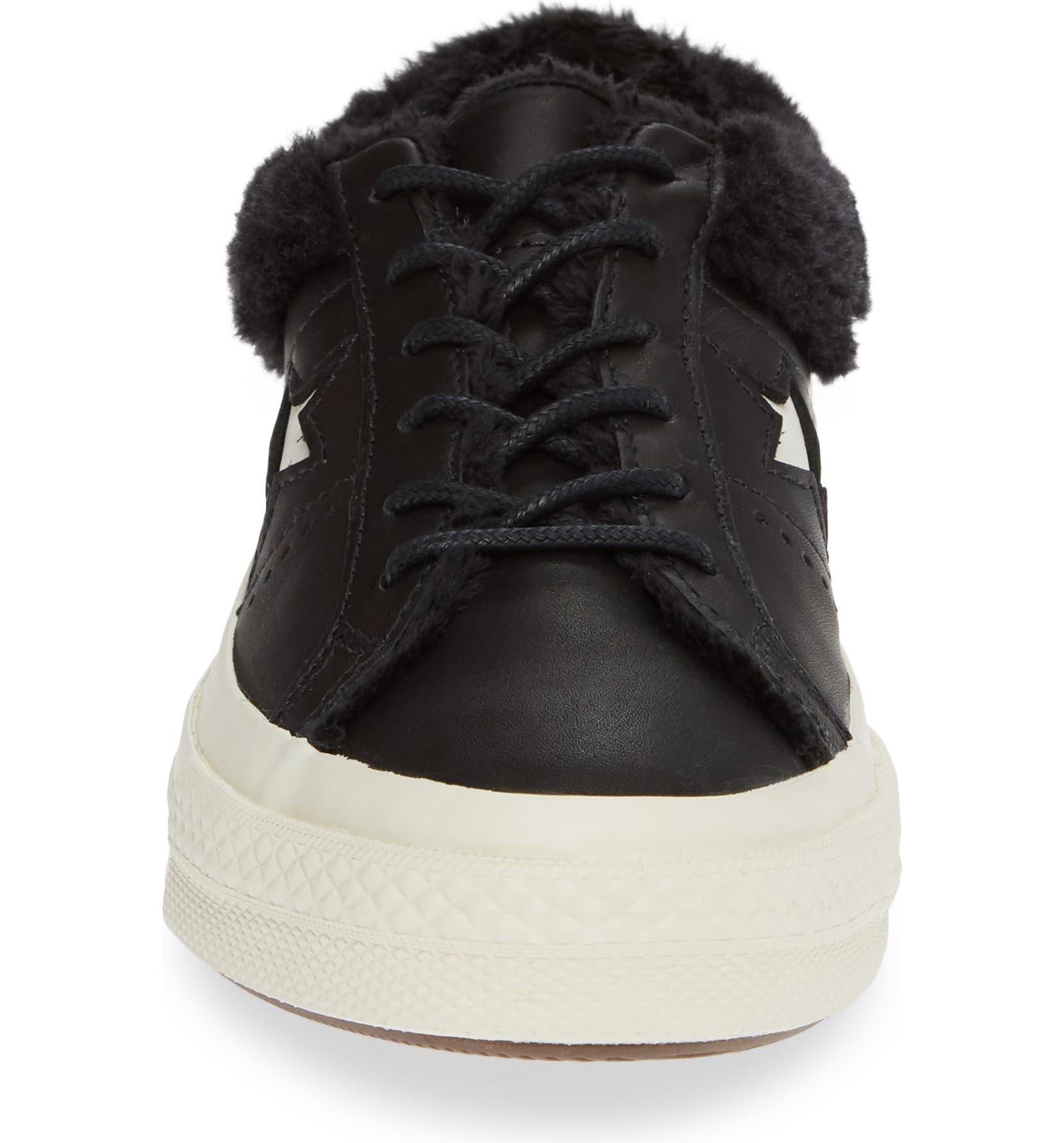 b9f20d160d98 Converse One Star Street Warmer Faux Fur Lined Low Top Sneaker (Women)