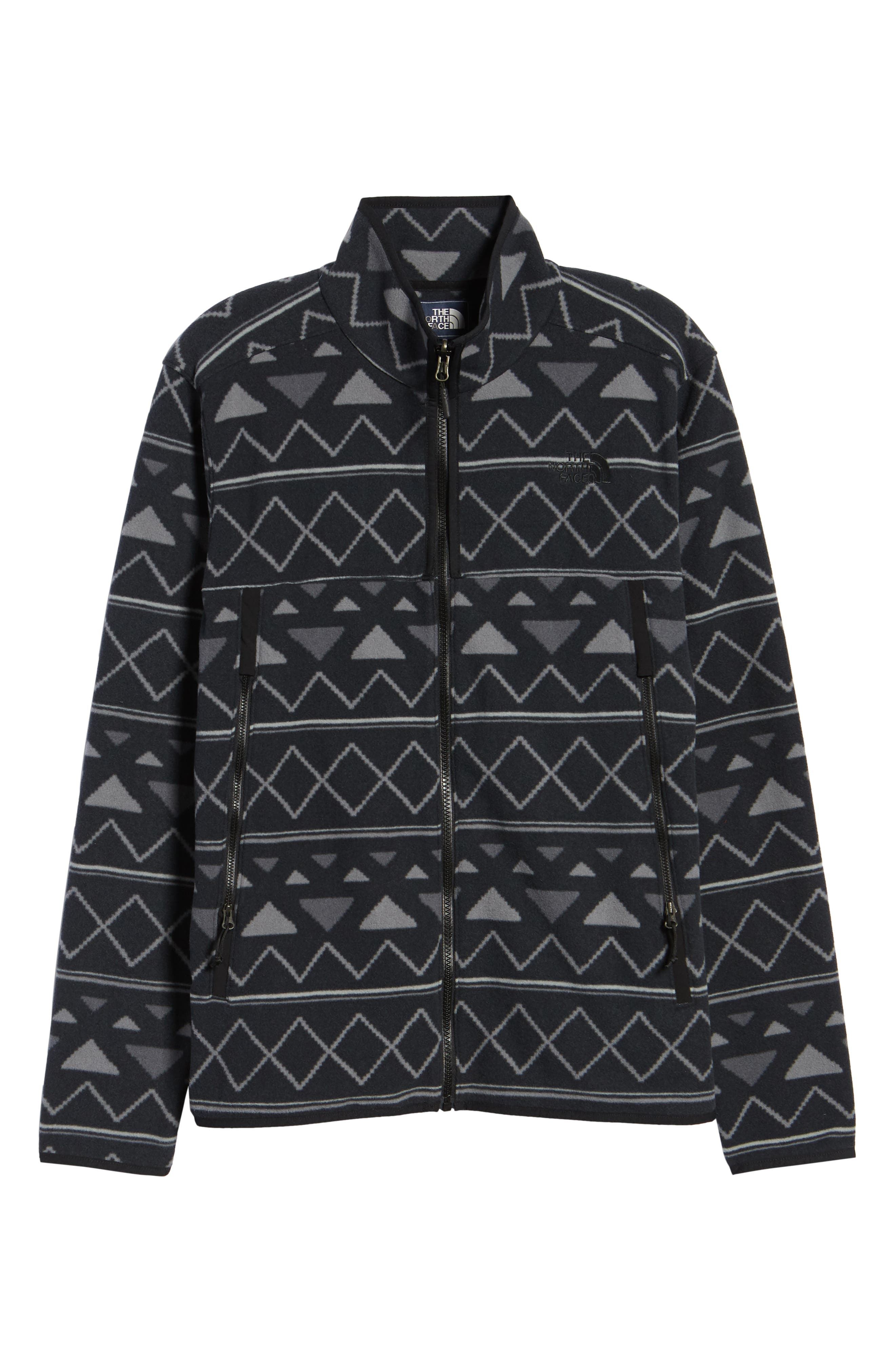 Glacier Alpine Jacket,                             Alternate thumbnail 6, color,                             TNF BLACK TRIANGLE STRIPE