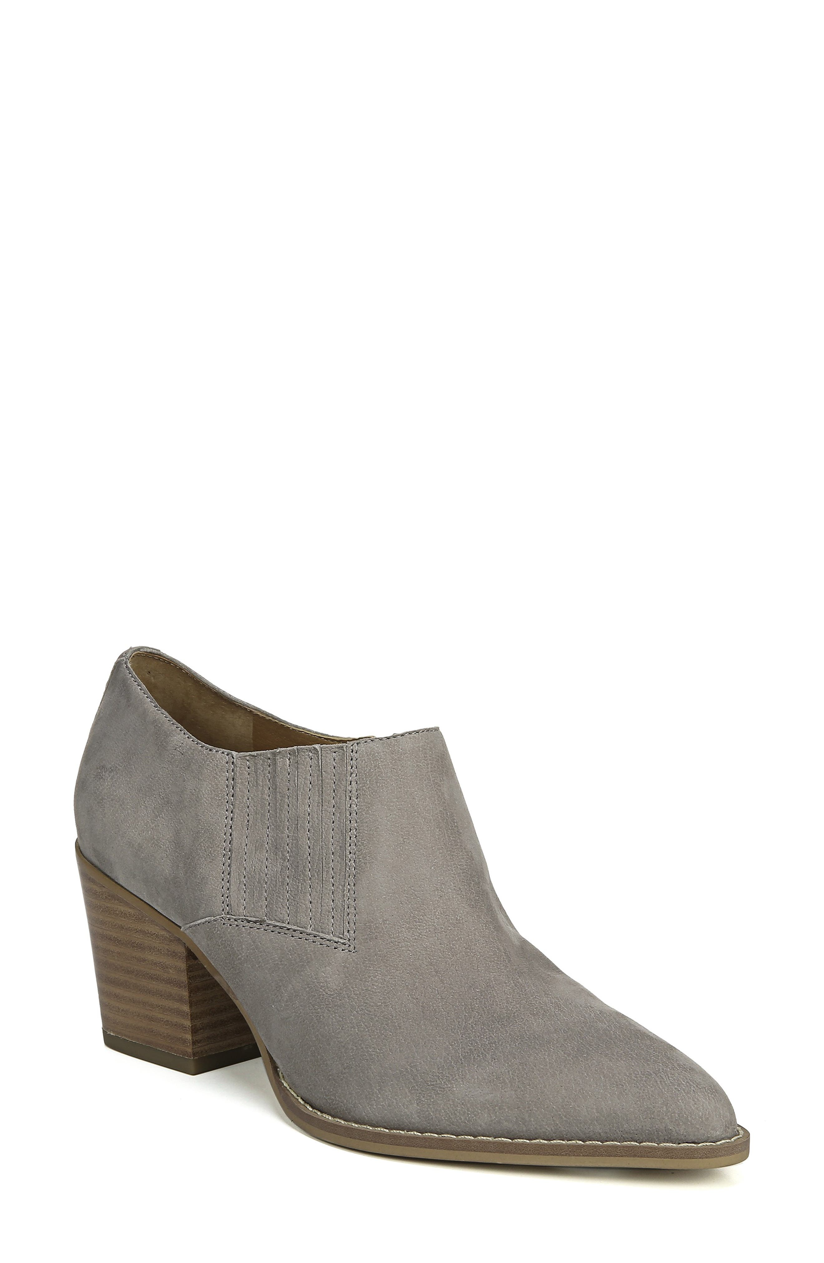 Camella Bootie,                             Main thumbnail 1, color,                             GREYSTONE NUBUCK LEATHER