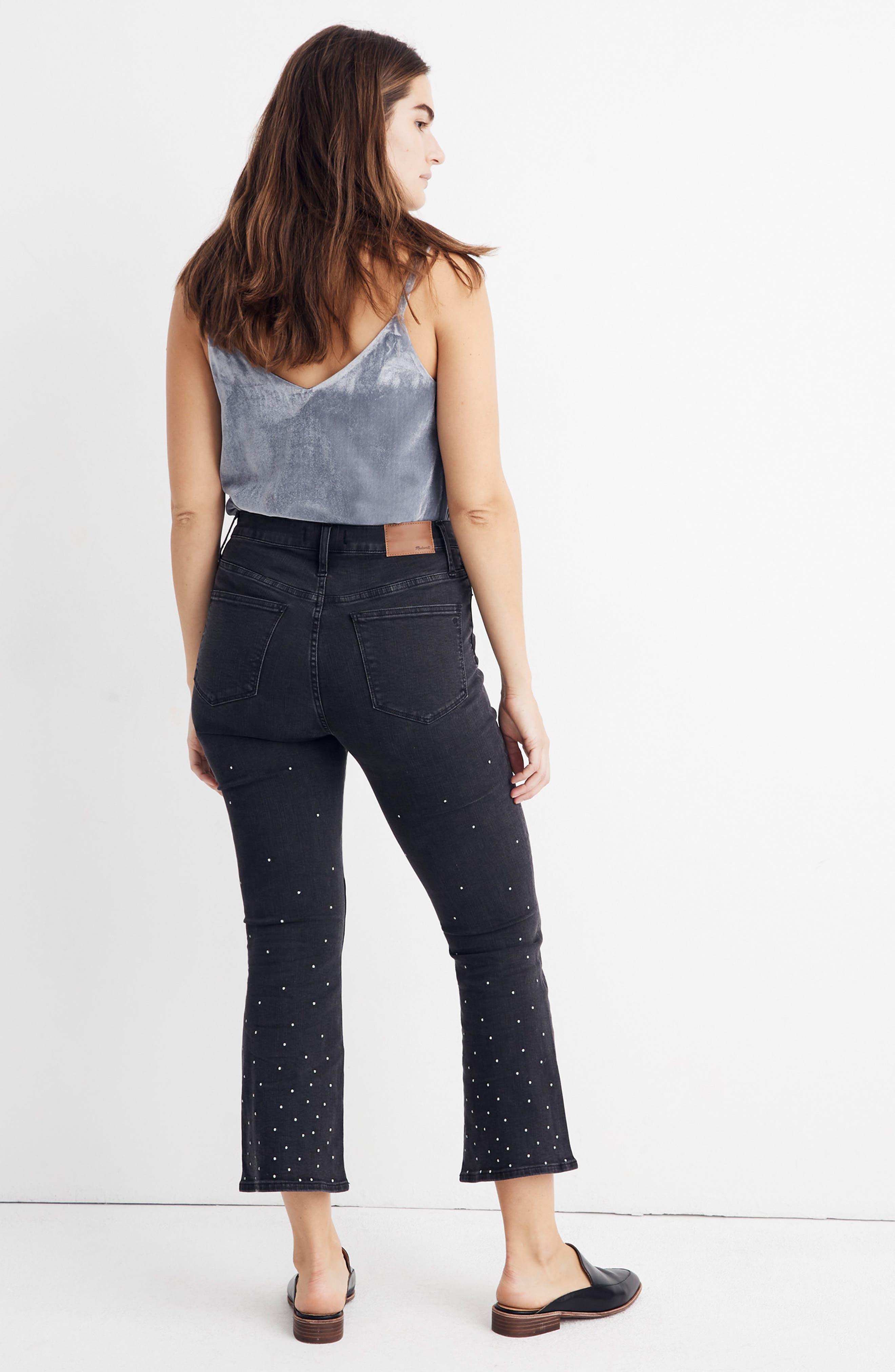 Cali Demi Boot Jeans,                             Alternate thumbnail 8, color,                             SILVER DOTS