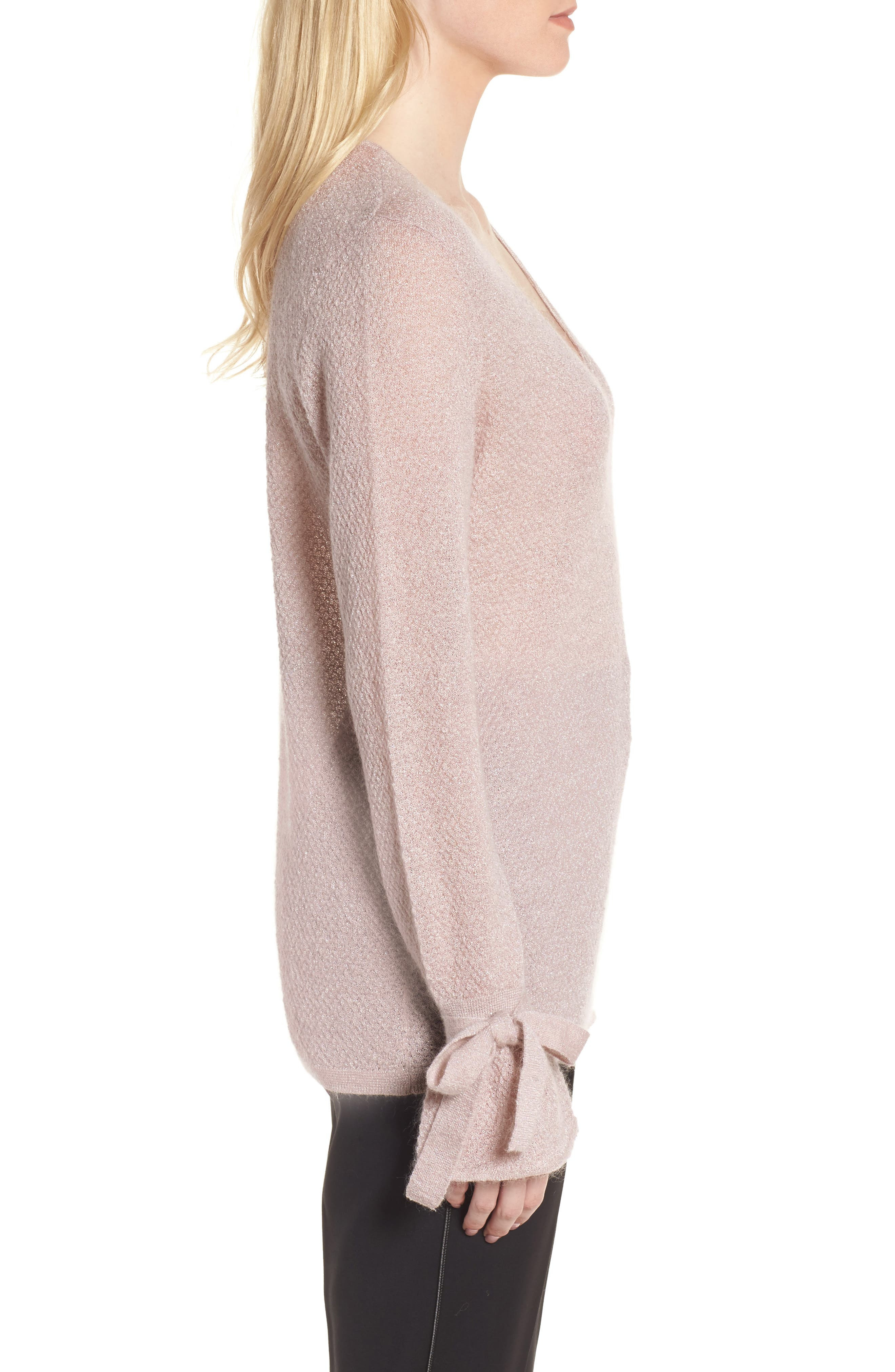 Metallic Mohair Blend Sweater,                             Alternate thumbnail 5, color,