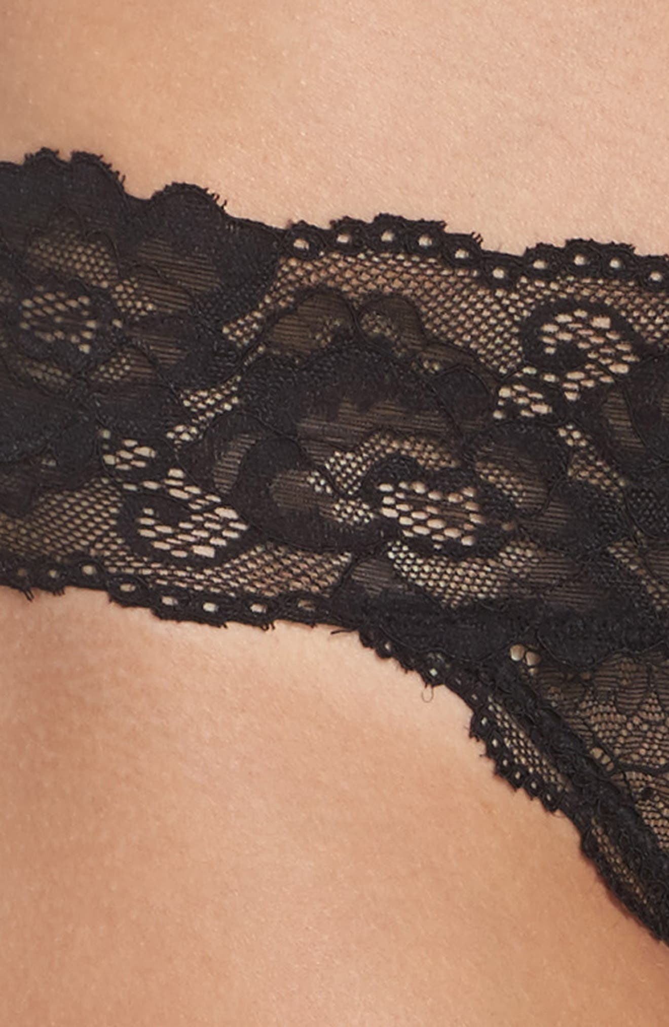 Honeydew Lace Thong,                             Alternate thumbnail 5, color,                             001