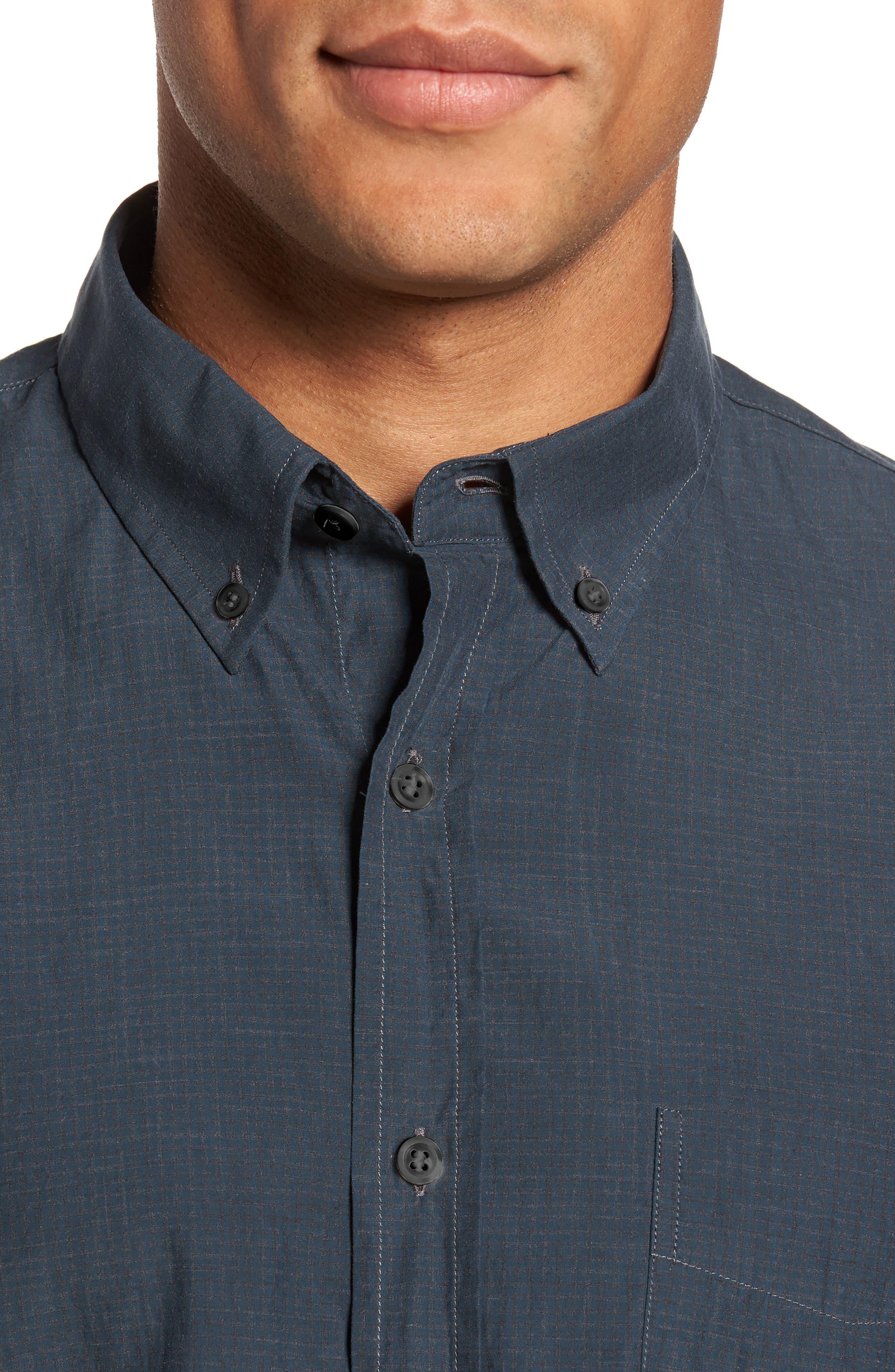 Rosedale Slim Fit Check Sport Shirt,                             Alternate thumbnail 4, color,