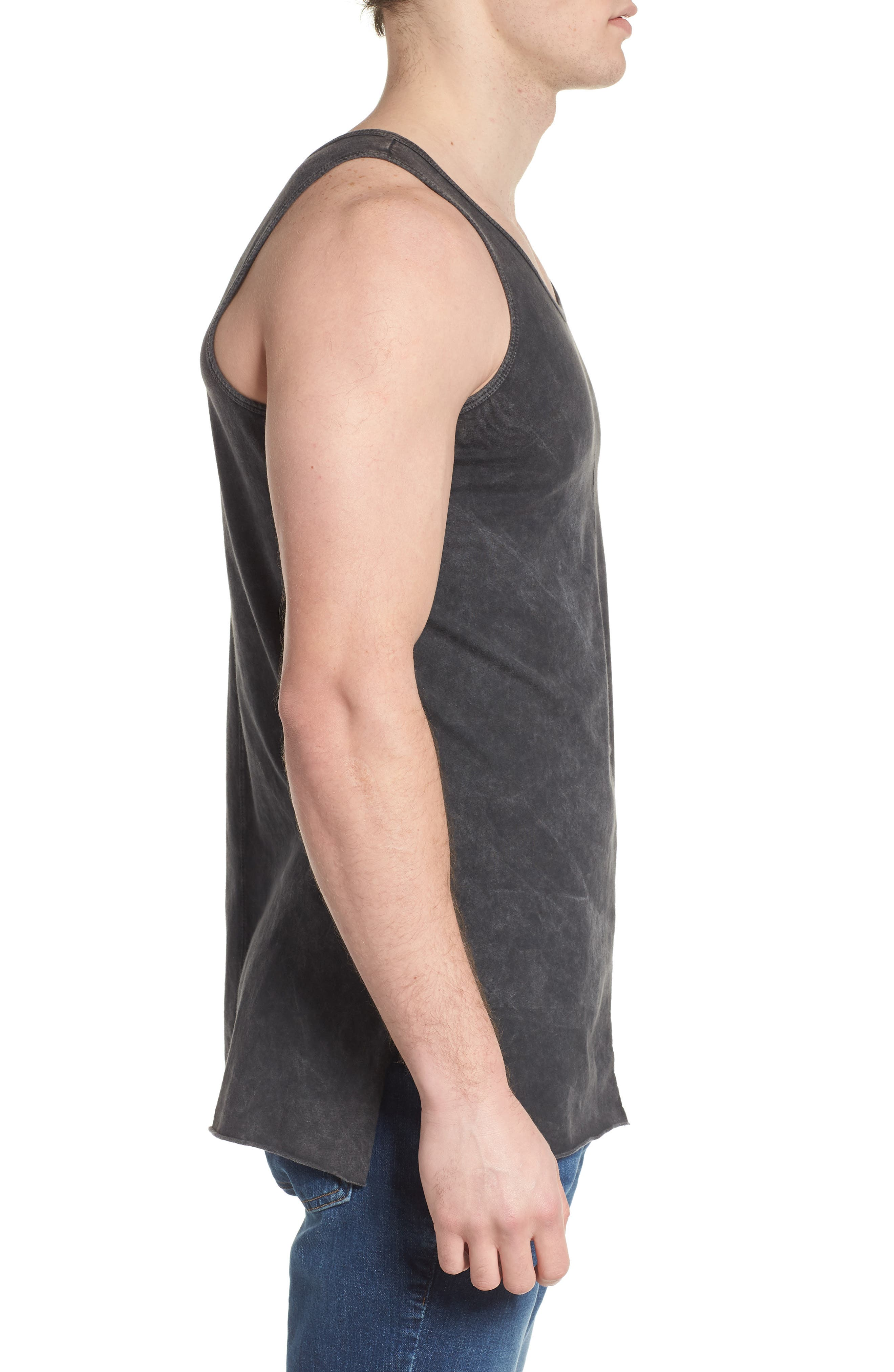 Seamed Tank,                             Alternate thumbnail 3, color,                             CHARCOAL