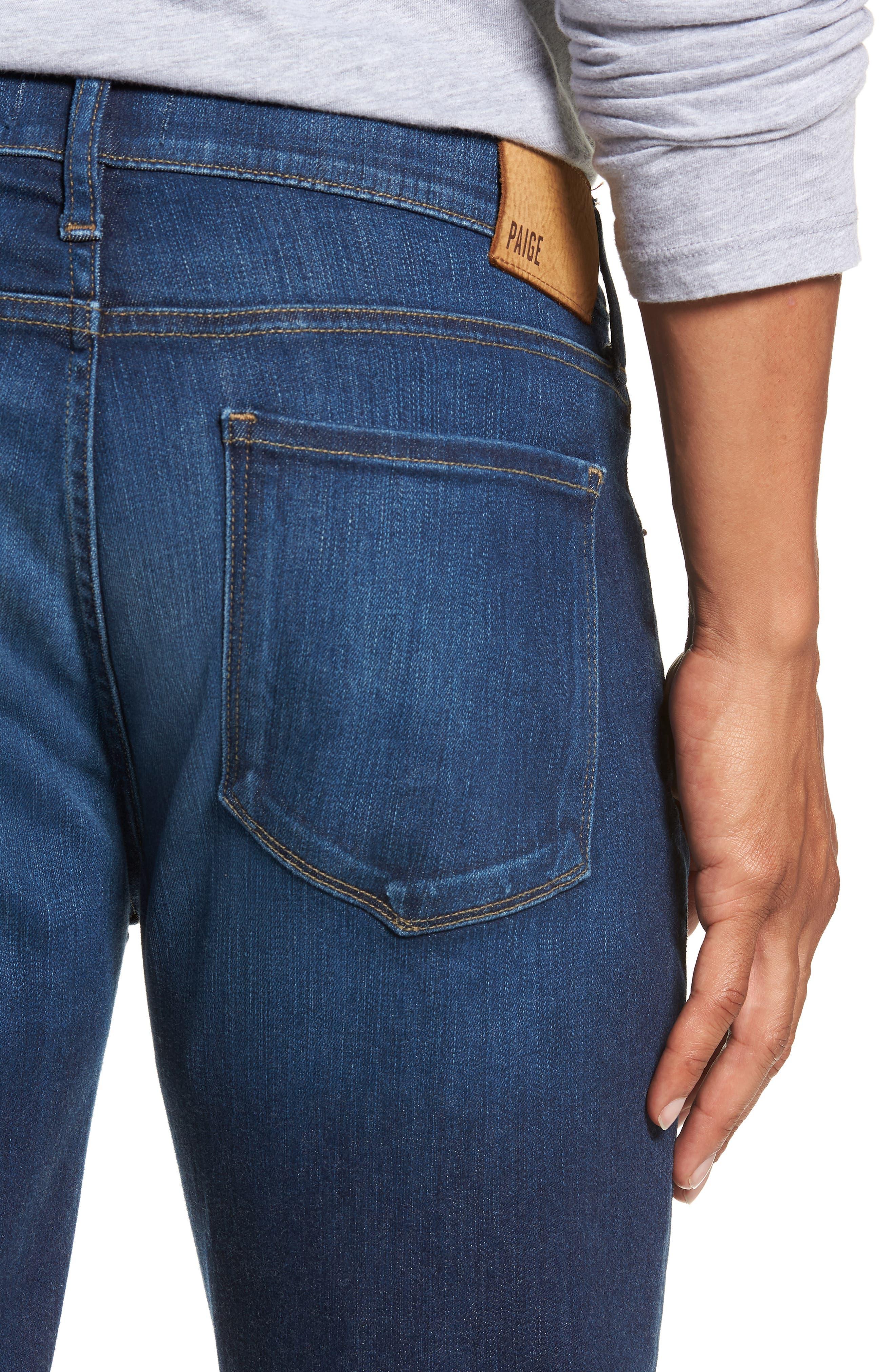 Transcend Vintage - Federal Slim Straight Leg Jeans,                             Alternate thumbnail 4, color,                             ELWYN