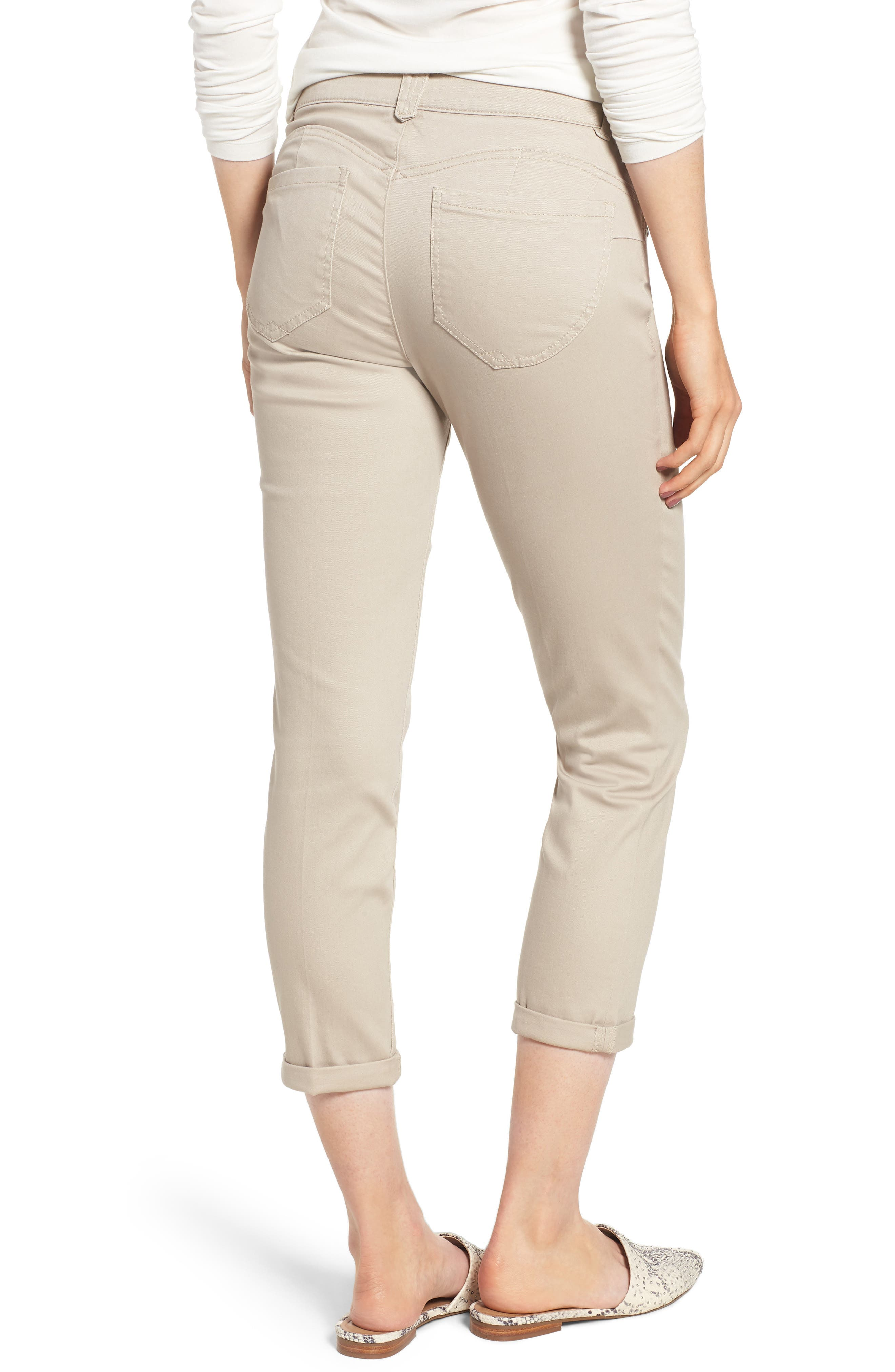 WIT & WISDOM,                             Ab-Solution Crop Skinny Pants,                             Alternate thumbnail 2, color,                             FLAX