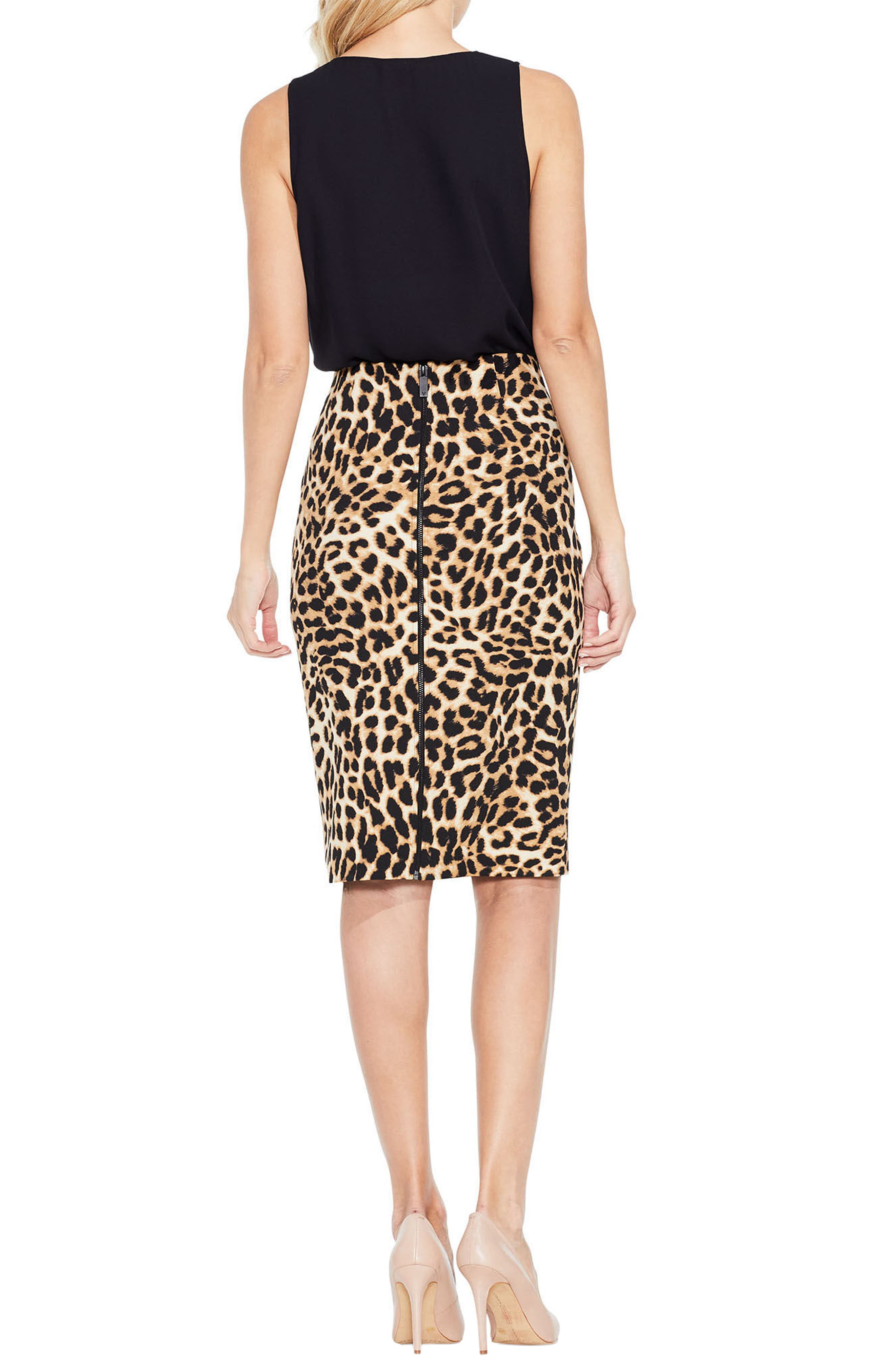 Animal Print Pencil Skirt,                             Alternate thumbnail 2, color,                             006