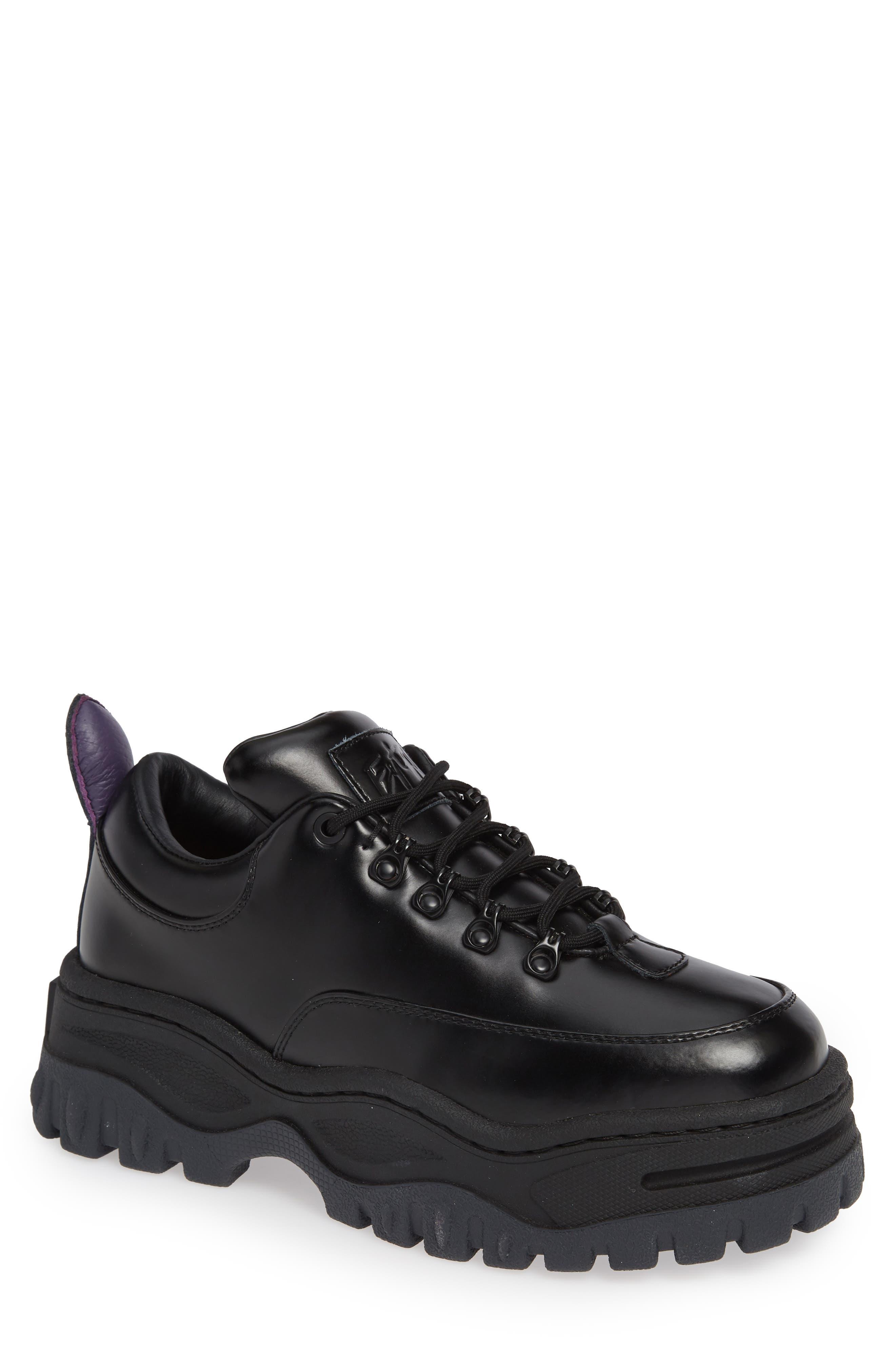 Angel Lug Sole Sneaker,                         Main,                         color, BLACK