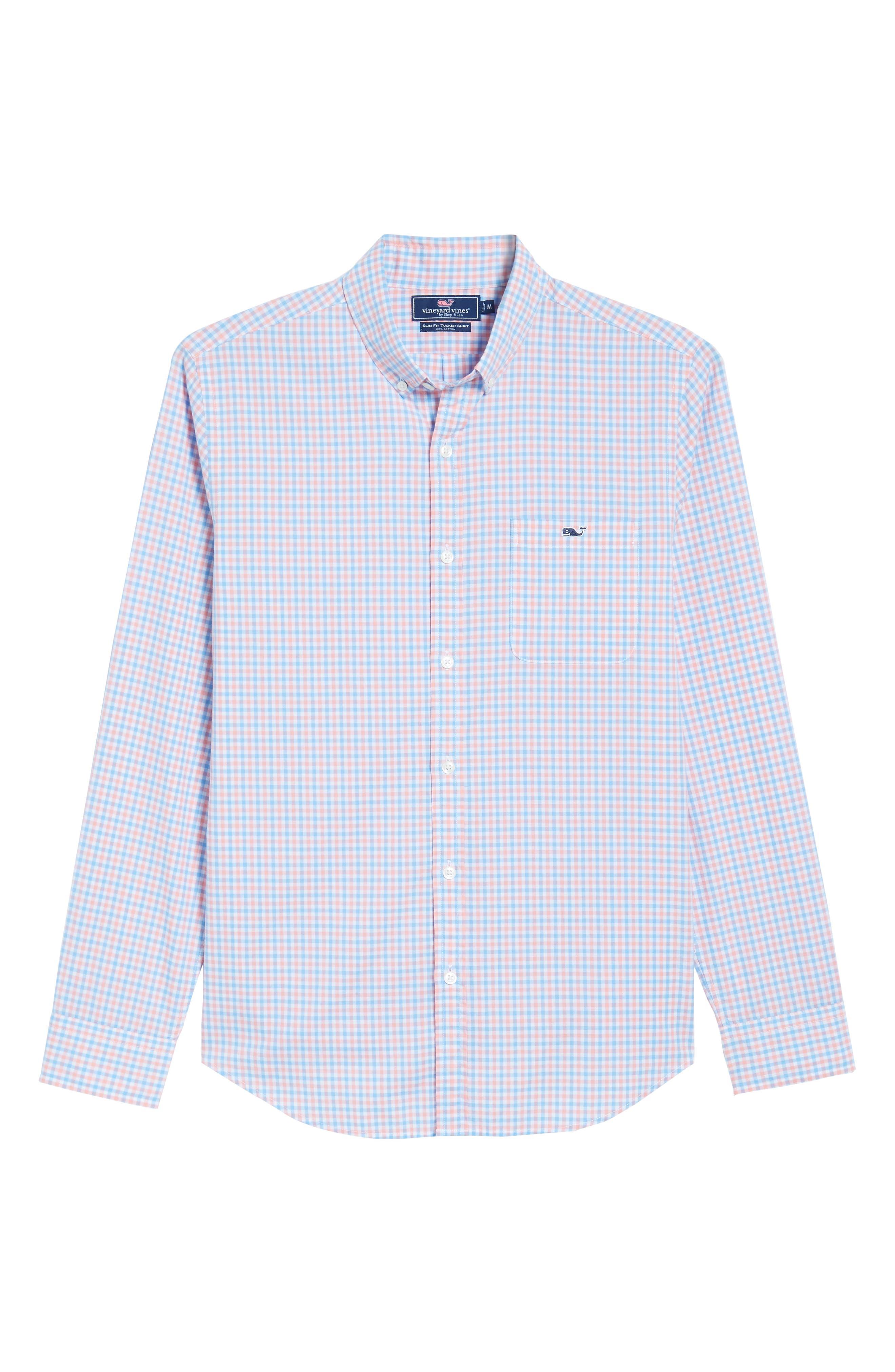 Tipsy Turtle Check Slim Fit Sport Shirt,                             Alternate thumbnail 18, color,
