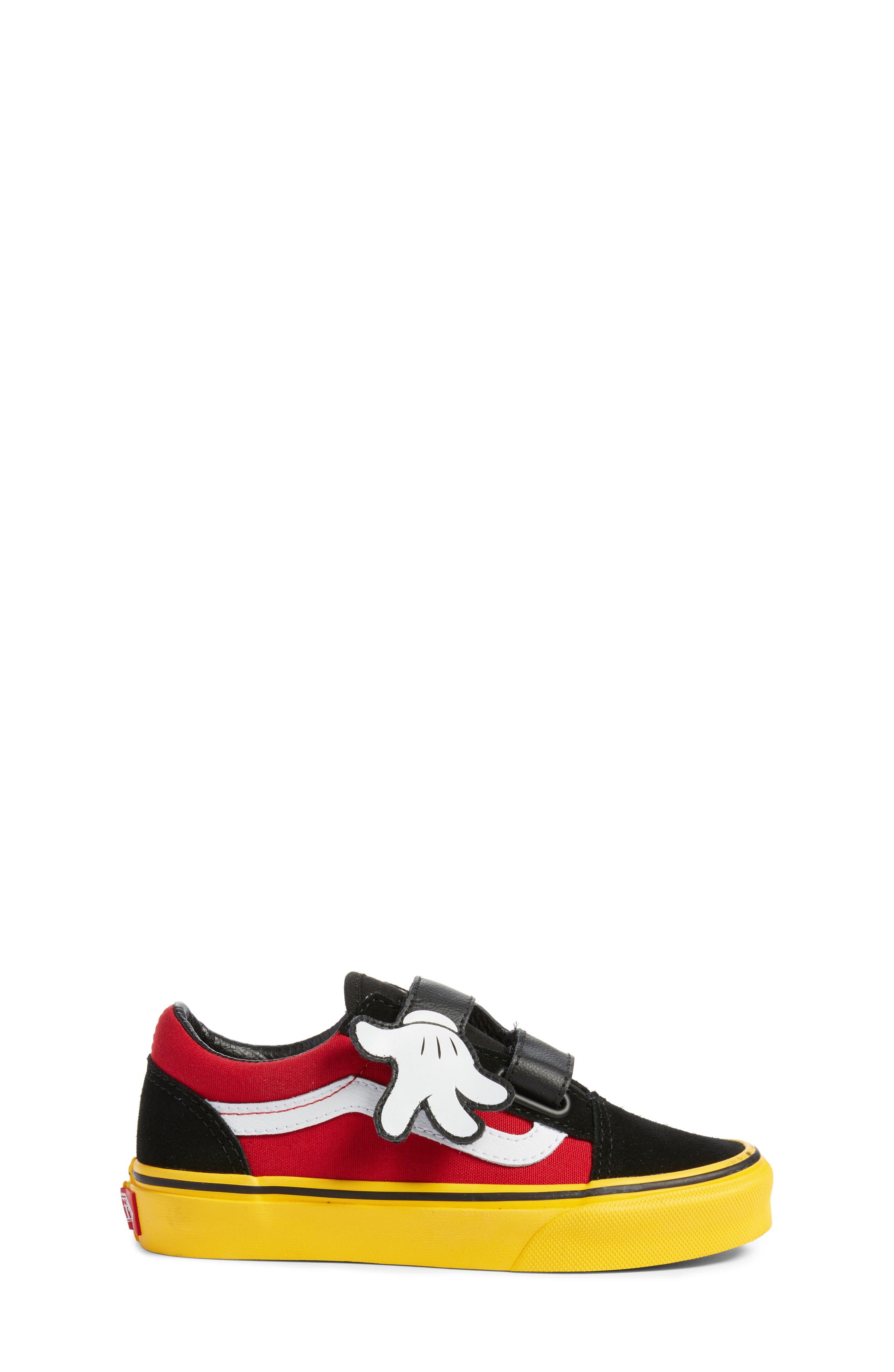 x Disney Mickey Mouse Old Skool V Sneaker,                             Alternate thumbnail 3, color,                             001