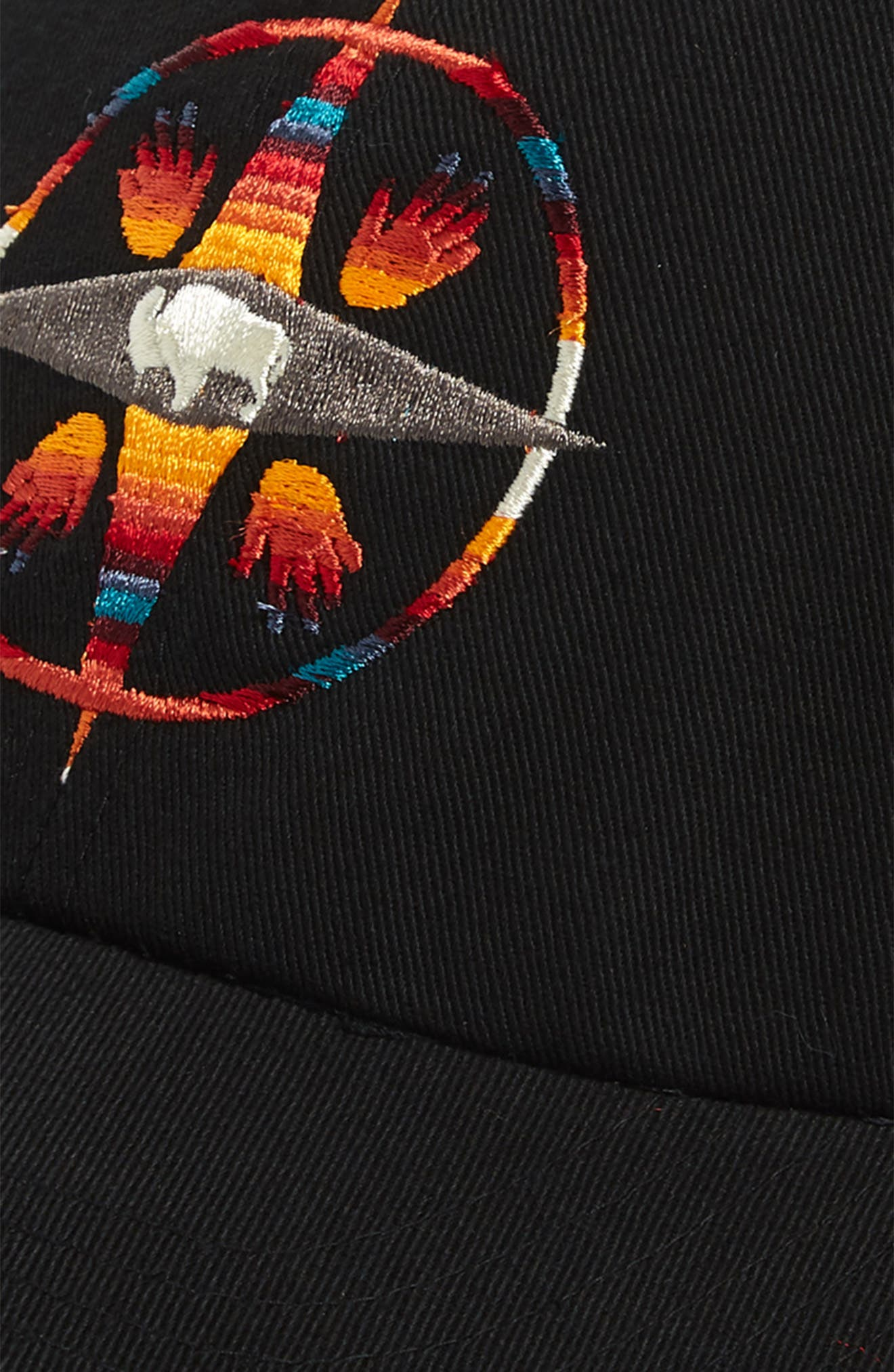 Big Medicine Embroidered Cap,                             Alternate thumbnail 3, color,                             BLACK