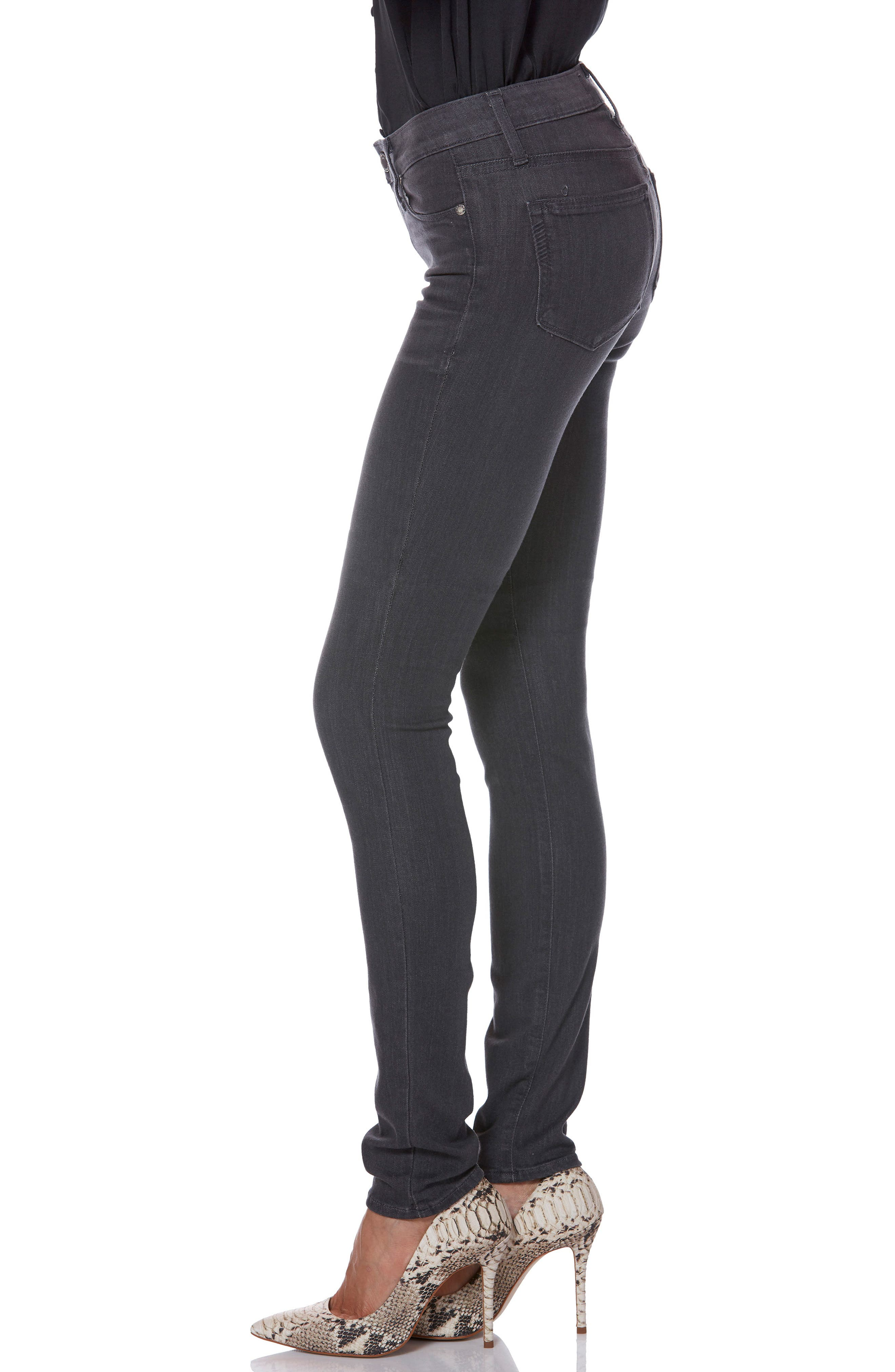 Transcend - Leggy Ultra Skinny Jeans,                             Alternate thumbnail 3, color,                             GREY PEAKS
