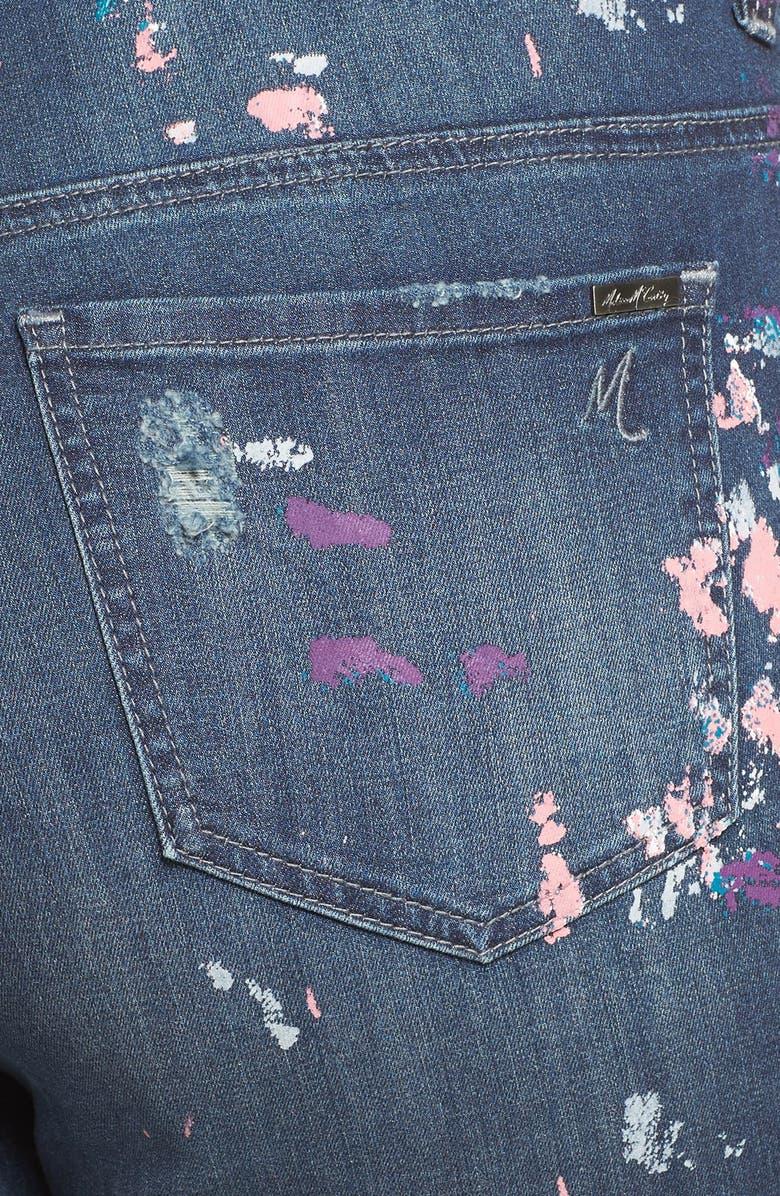 6eb0ce5bdce6b Melissa McCarthy Seven7  Paint Splatter  Print Roll Cuff Stretch Skinny  Jeans (Plus Size)