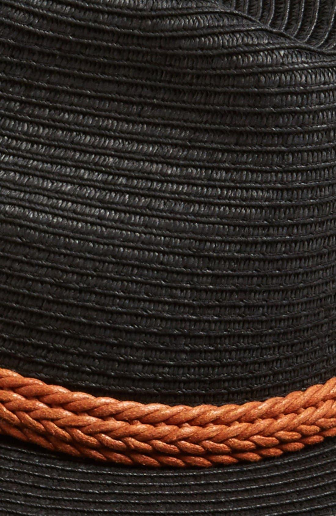 Wide Brim Straw Hat,                             Alternate thumbnail 2, color,                             001