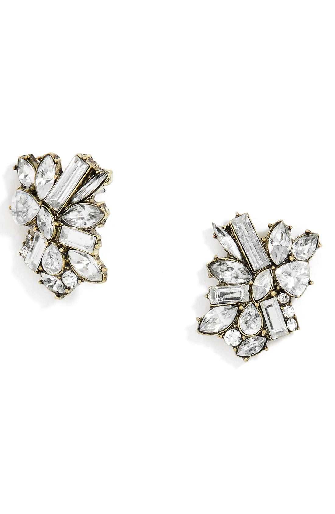 Criostal Set of 2 Crystal Stud Earrings,                             Alternate thumbnail 2, color,                             719