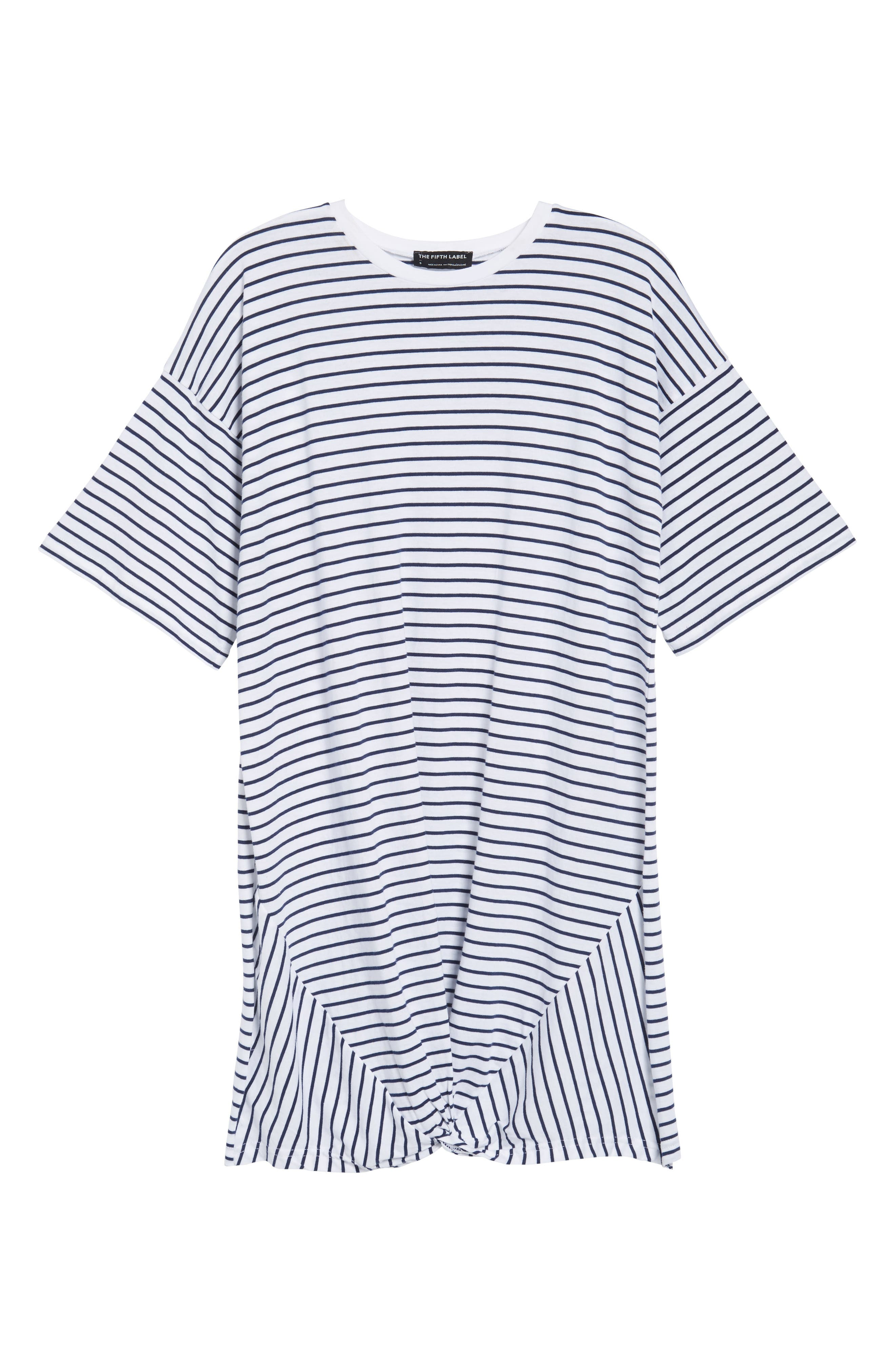 Recharge Knot Hem T-Shirt Dress,                             Alternate thumbnail 6, color,                             400