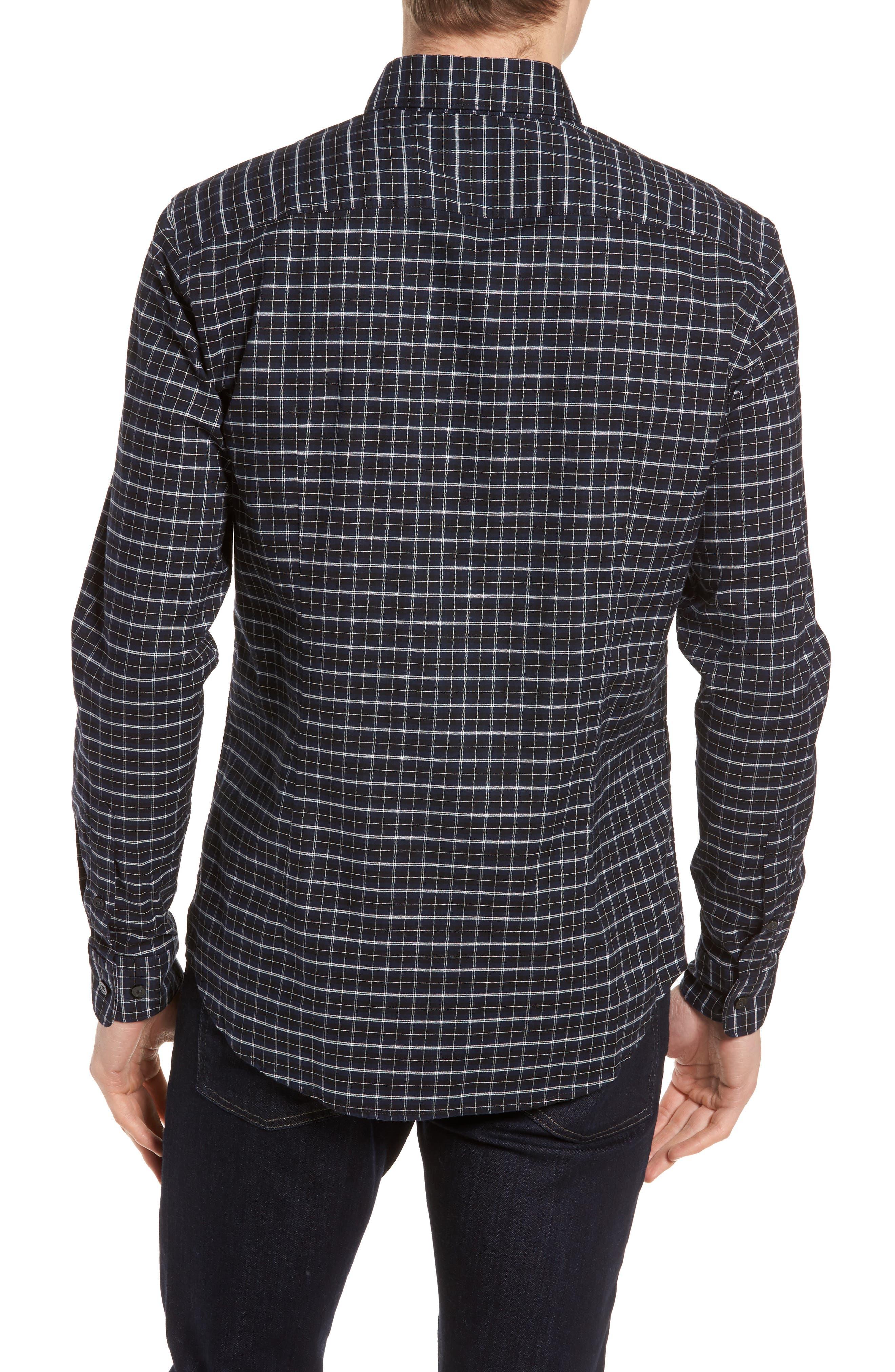 Rod Slim Fit Oxford Check Sport Shirt,                             Alternate thumbnail 2, color,                             410
