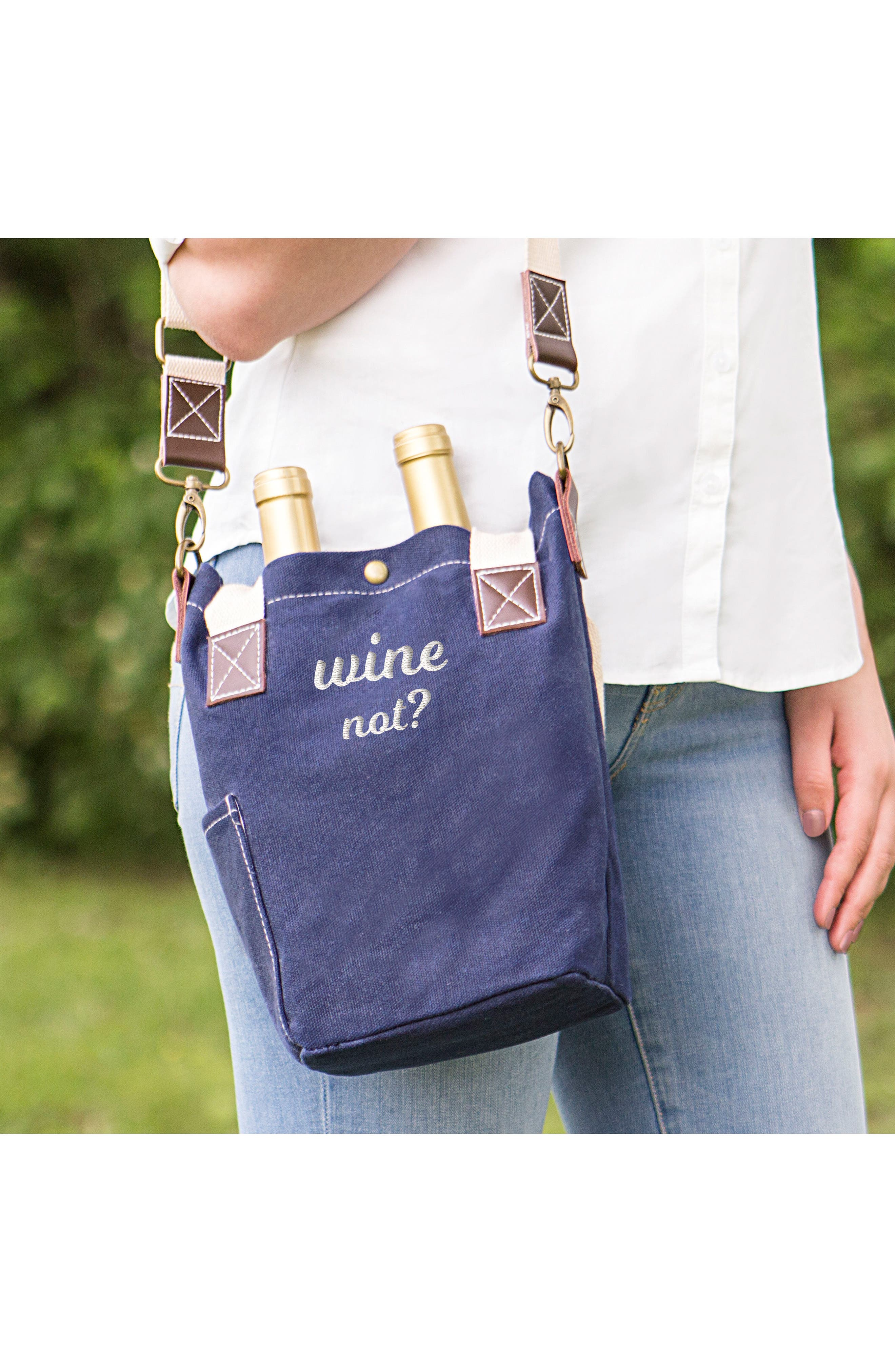 Wine Not? Wine Tote,                             Alternate thumbnail 2, color,                             400