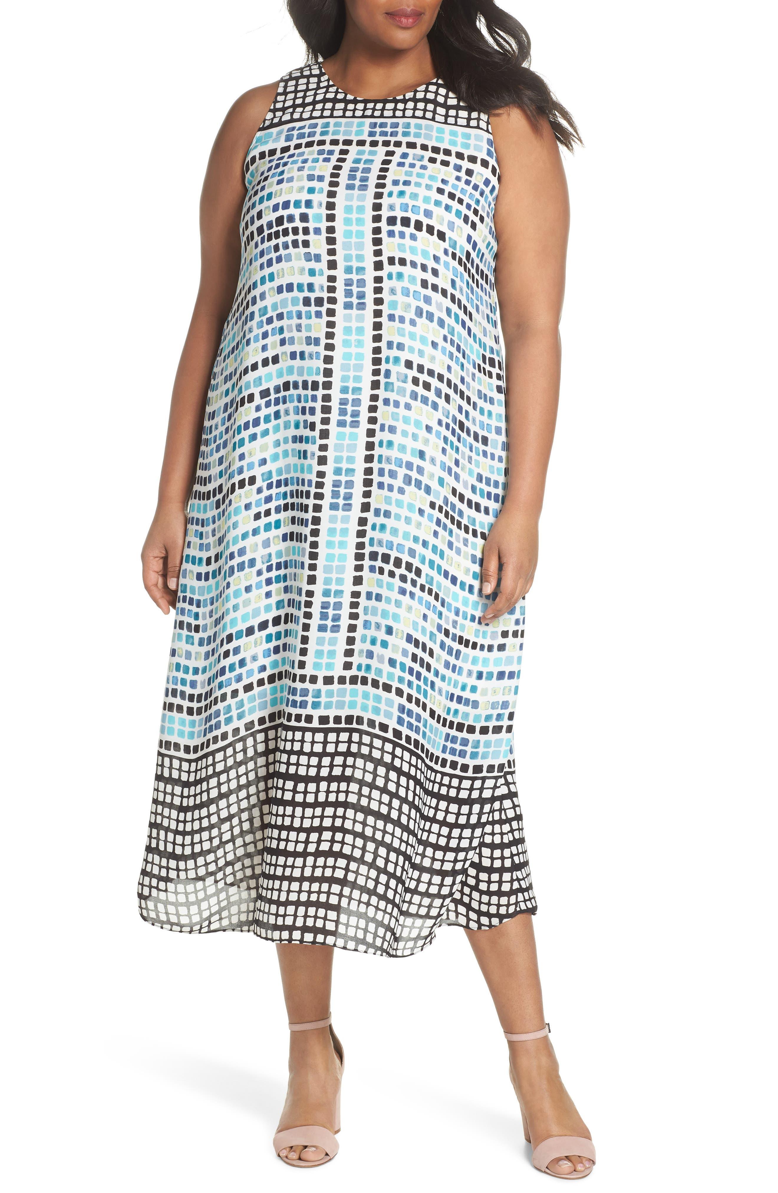 Color Wave Maxi Dress,                             Main thumbnail 1, color,                             490