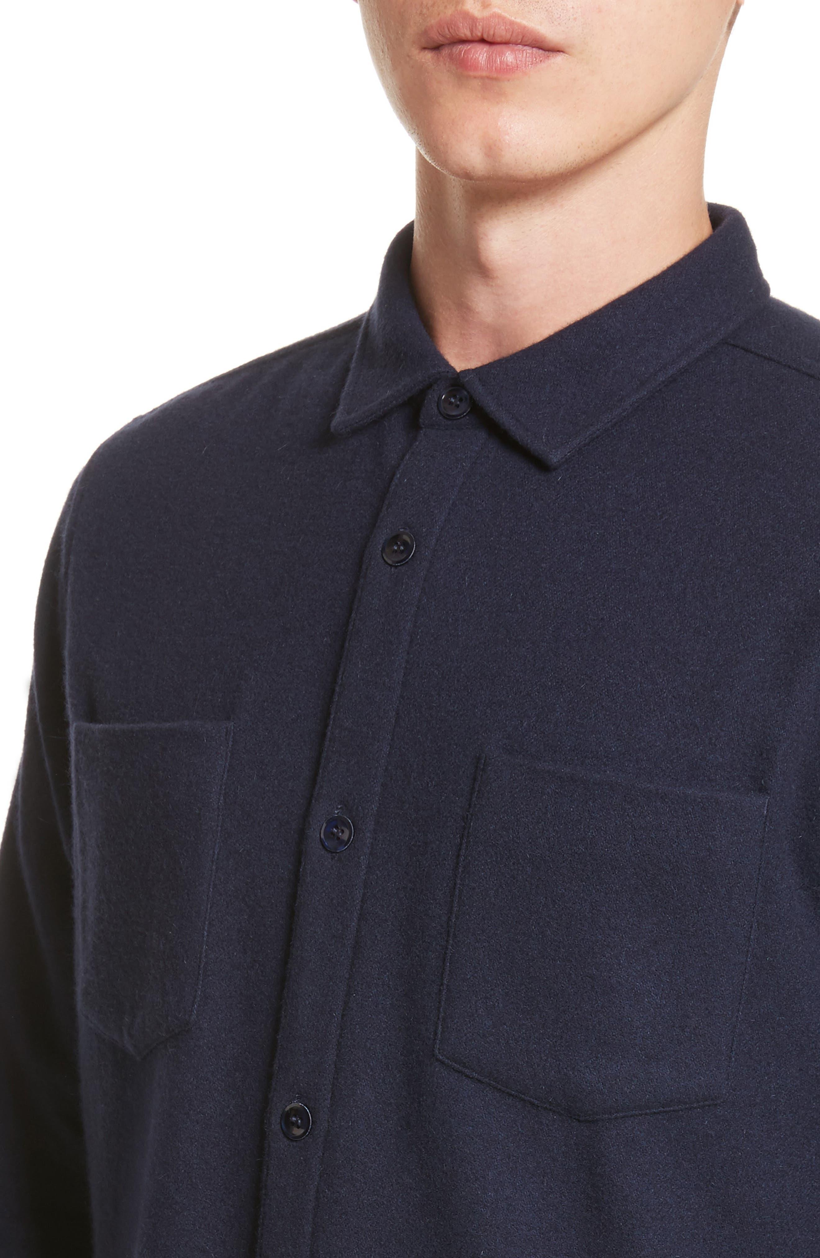 Fritz Wool Blend Shirt Jacket,                             Alternate thumbnail 4, color,                             410