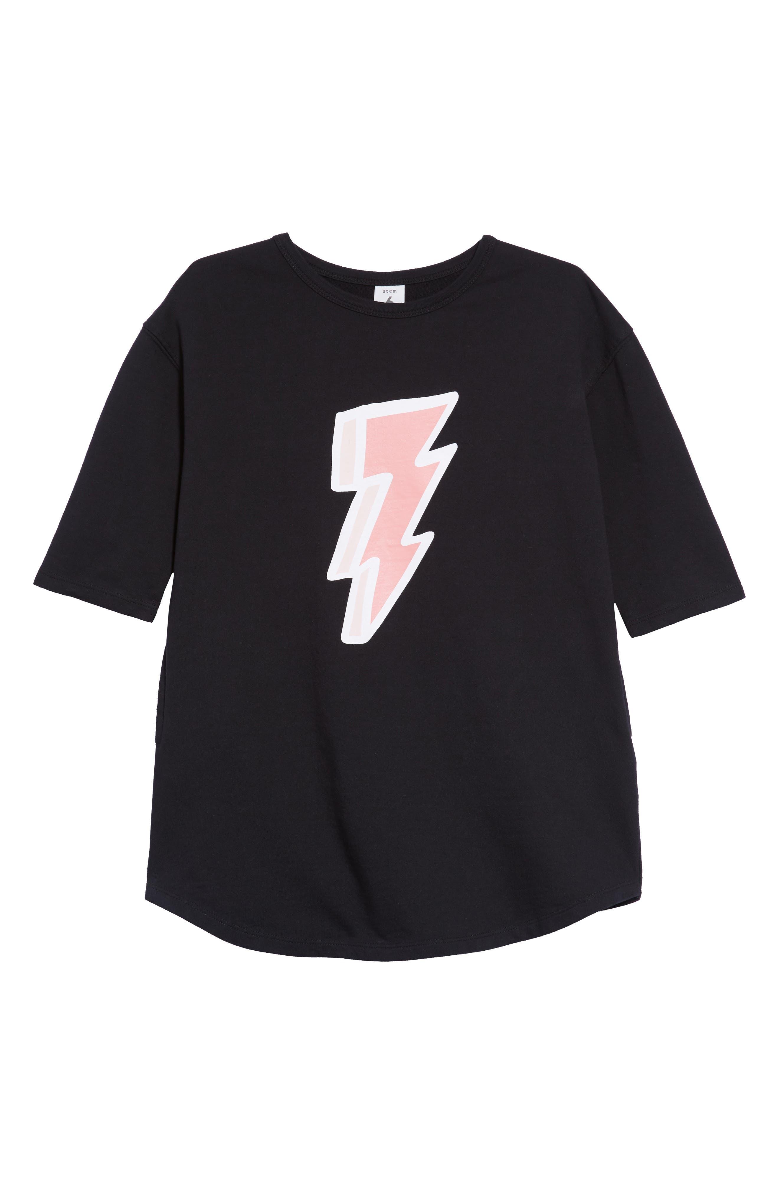 Lightning Bolt Graphic Dress,                         Main,                         color, 001