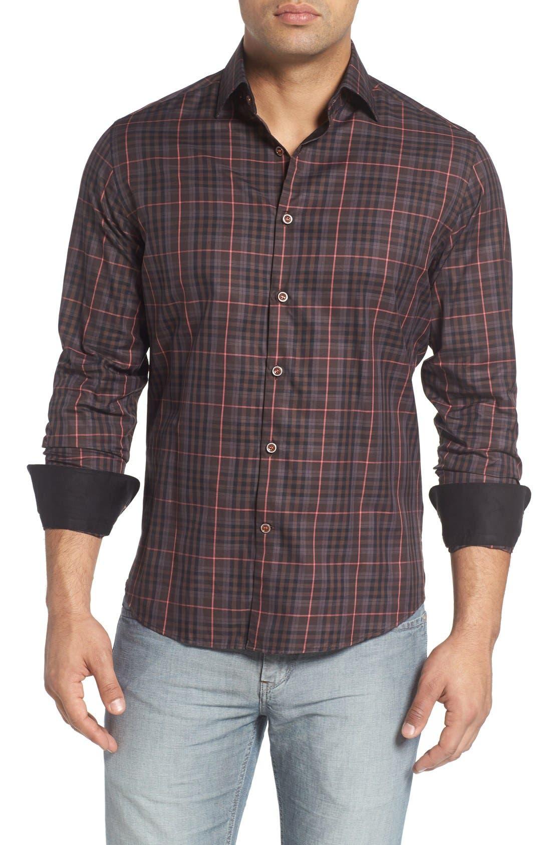 Plaid Sport Shirt,                             Main thumbnail 1, color,