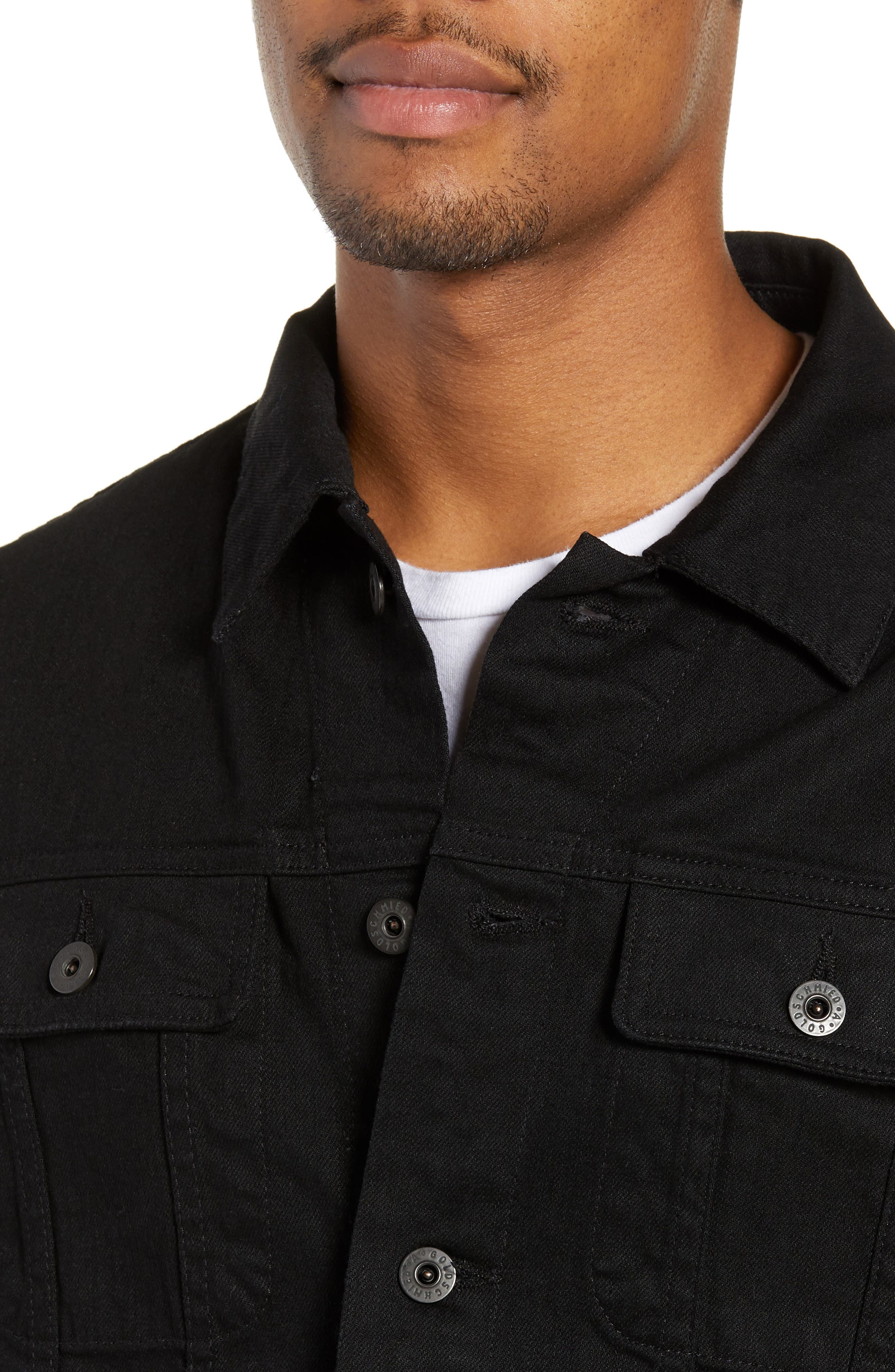 AG,                             Dart Denim Jacket,                             Alternate thumbnail 5, color,                             DEEP PITCH