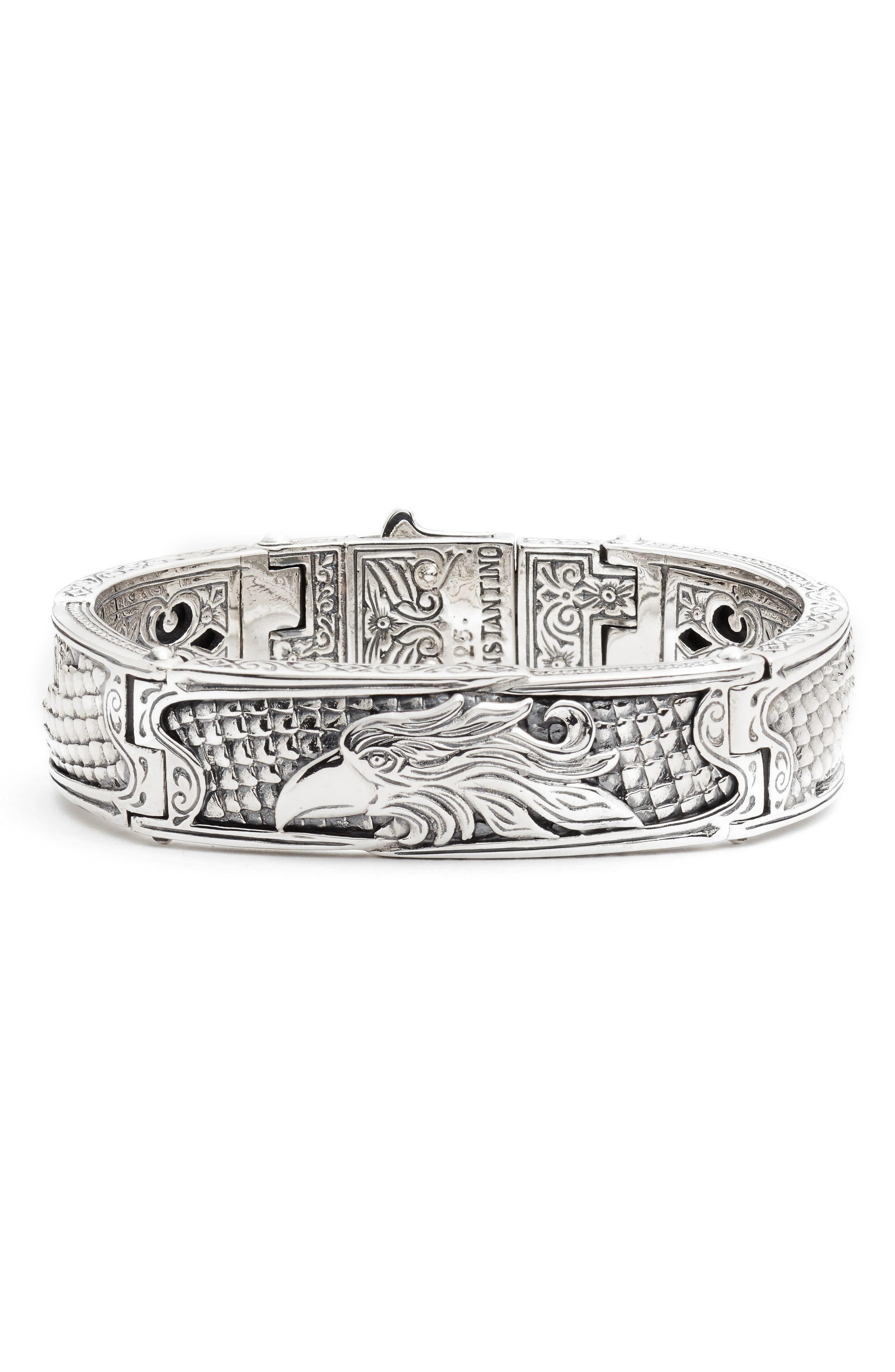 Heonos Men's Eagle Bracelet,                             Main thumbnail 1, color,                             SILVER