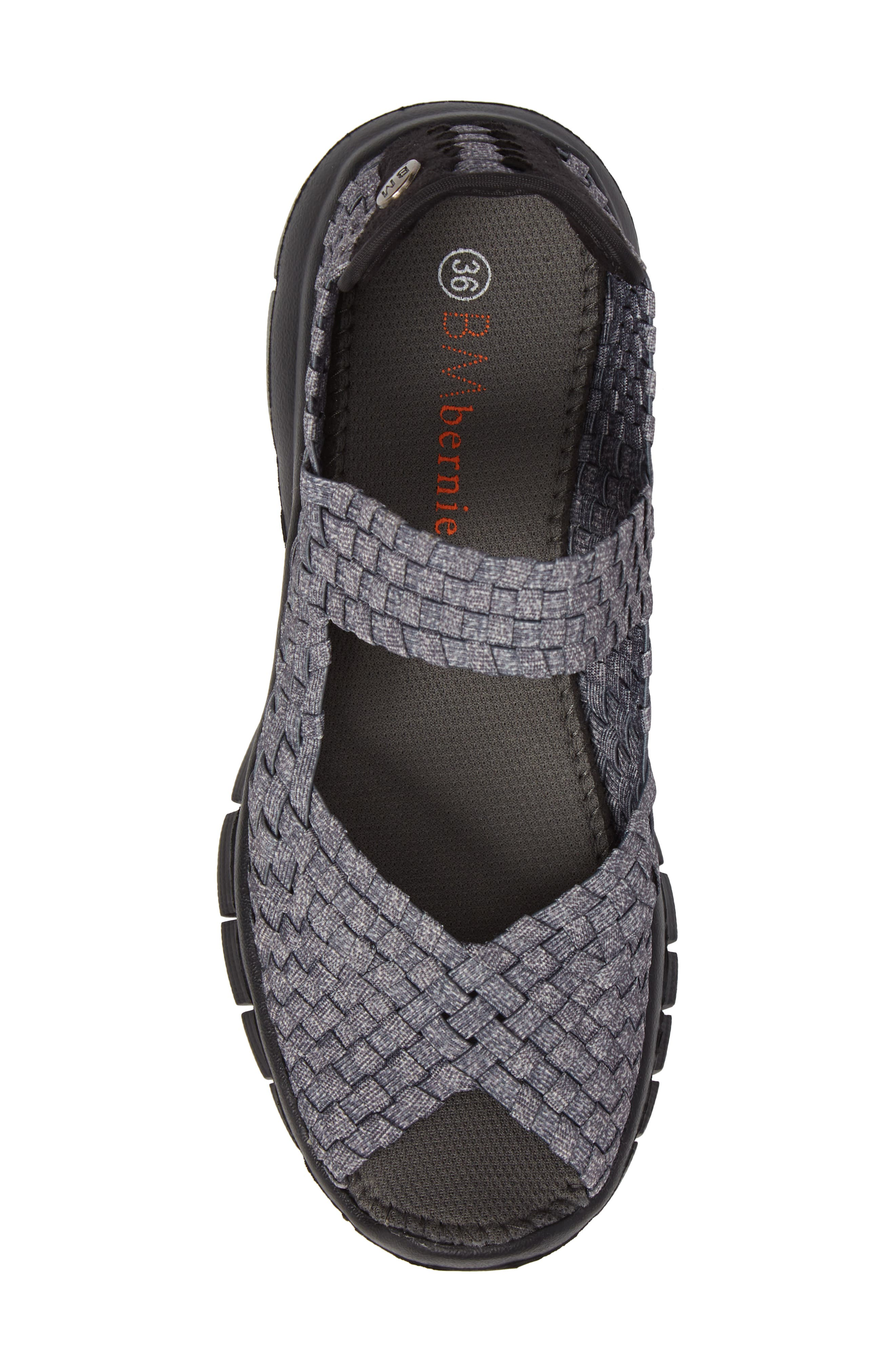 'Comfi' Mary Jane Flat,                             Alternate thumbnail 5, color,                             HEATHER GREY FABRIC