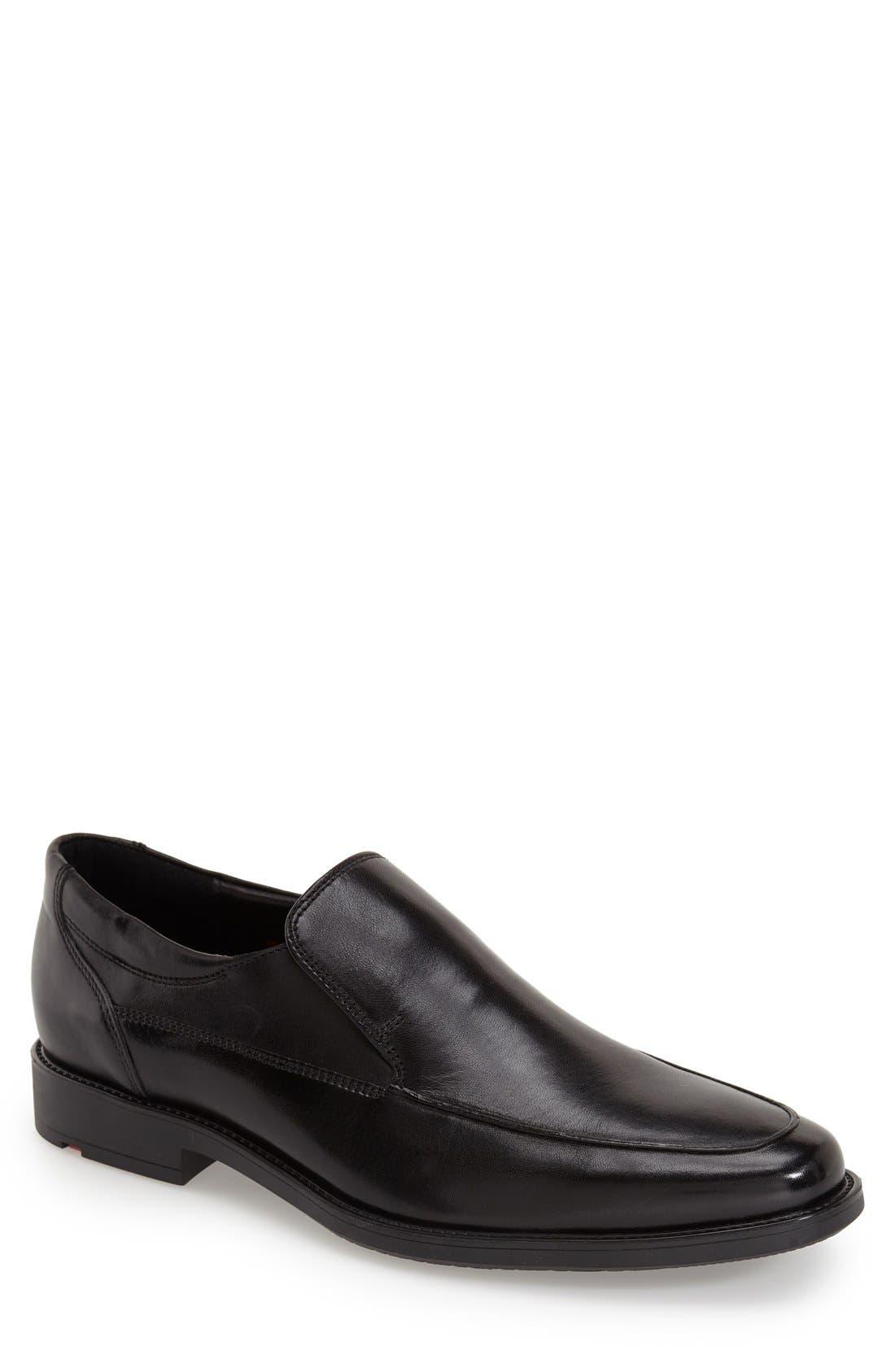 'Nante' Venetian Loafer,                             Main thumbnail 1, color,                             BLACK